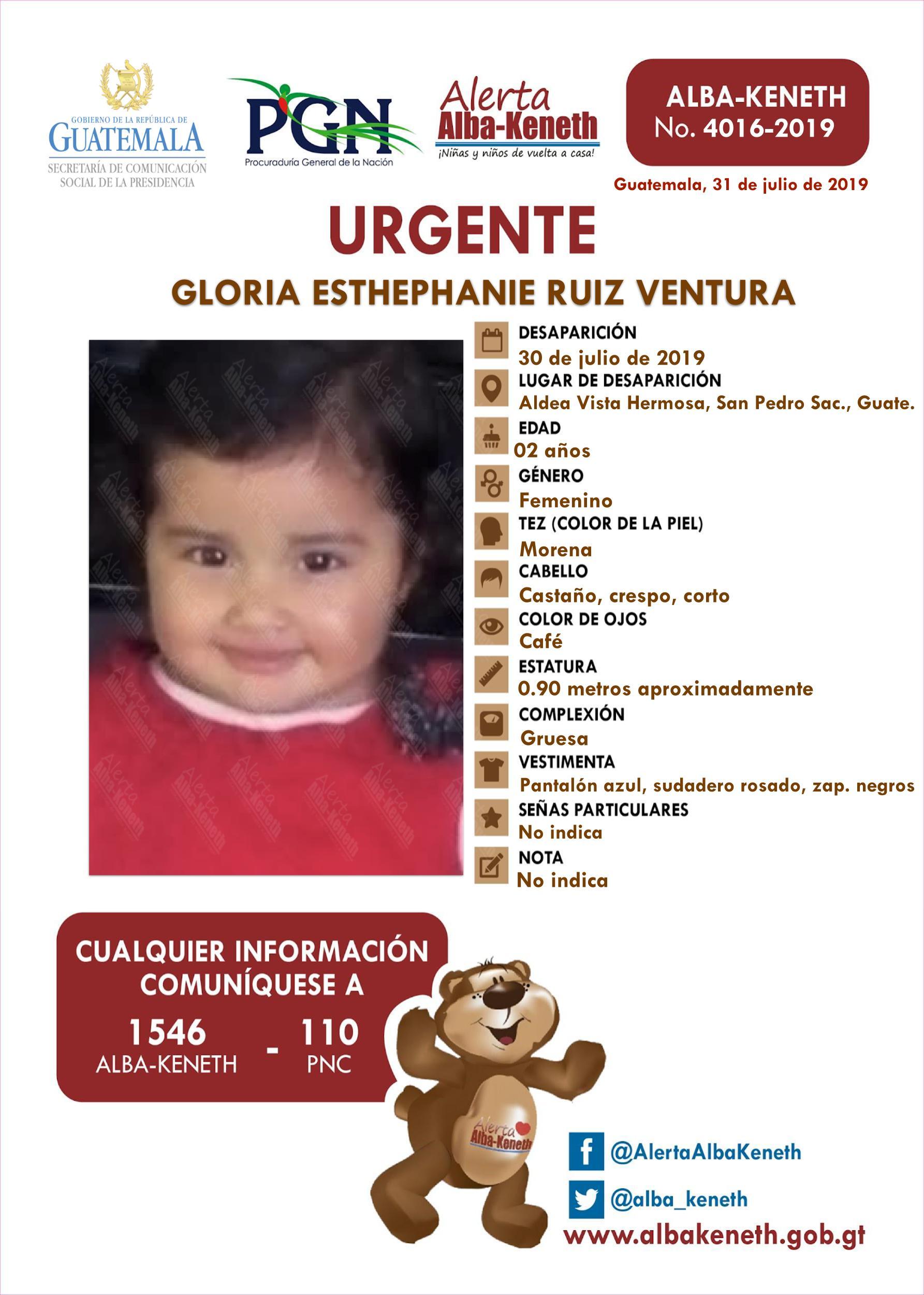 Gloria Esthephanie Ruiz Ventura