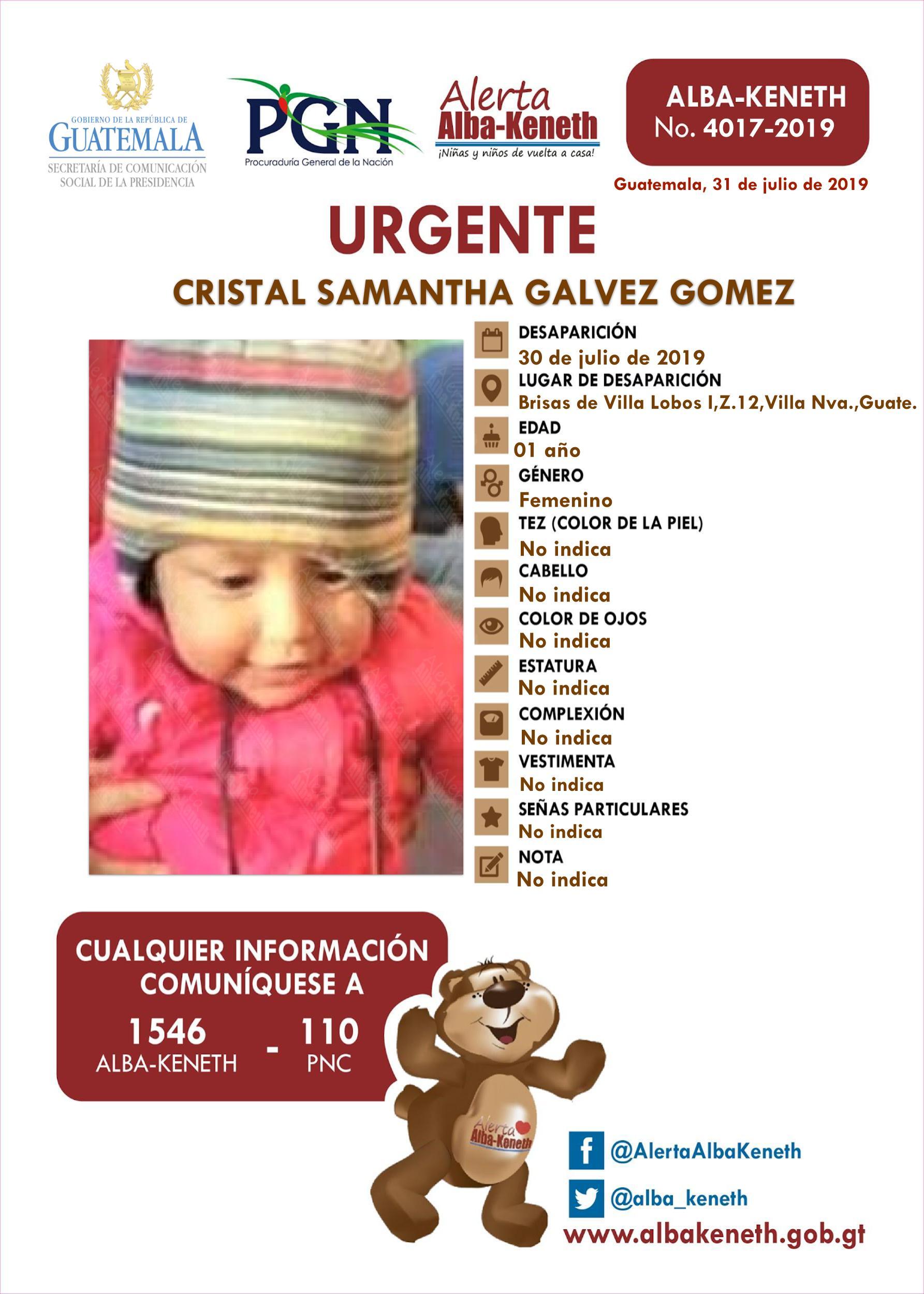 Cristal Samantha Galvez Gomez