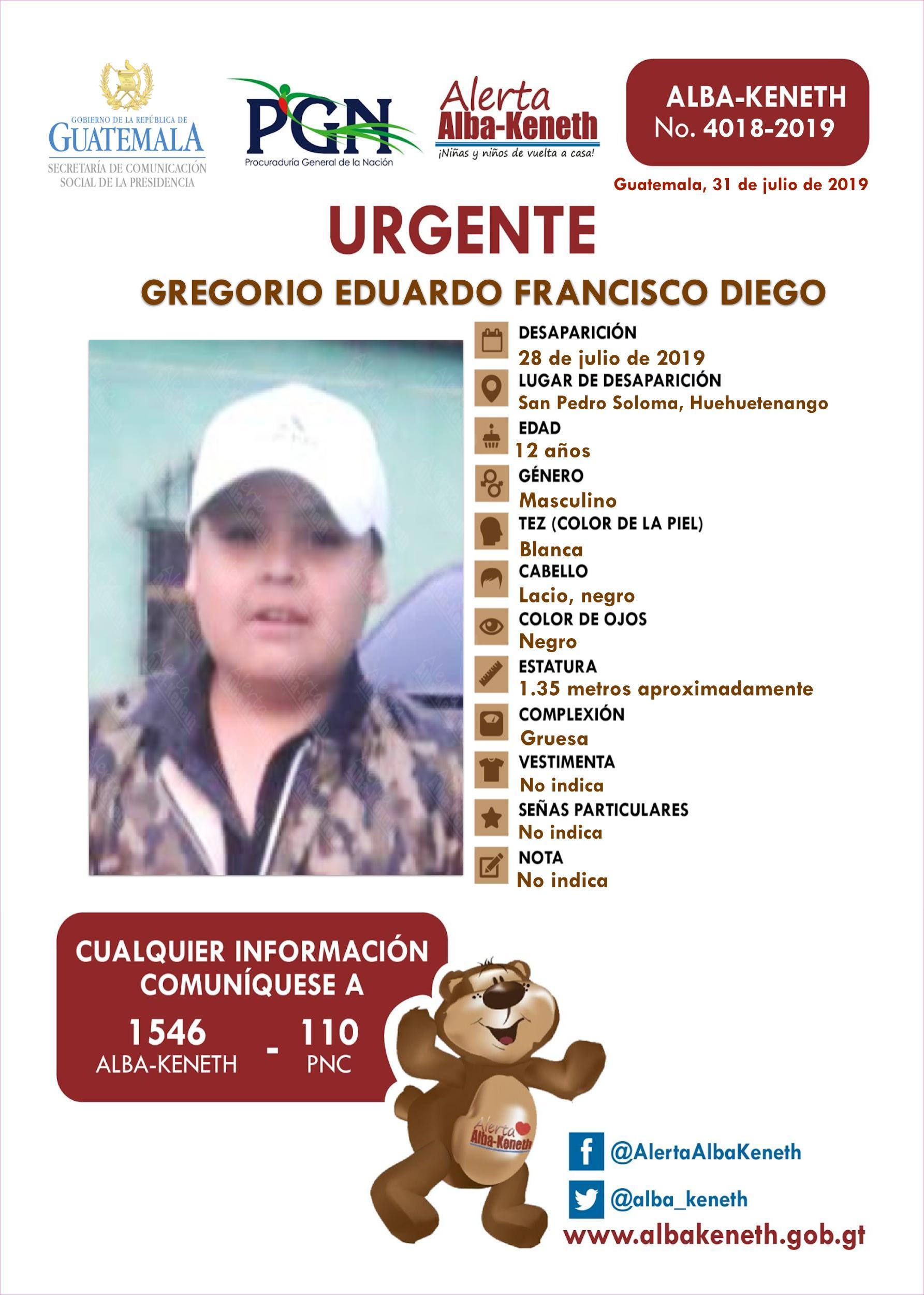 Gregorio Eduardo Francisco Diego