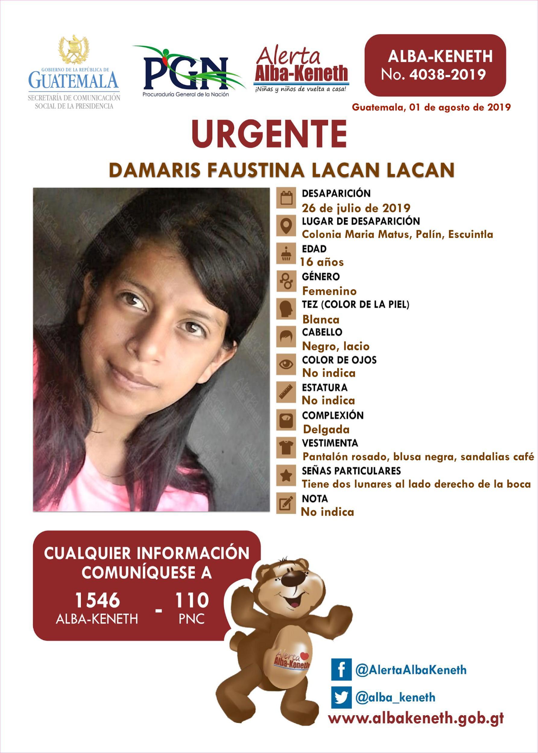 Damaris Faustina Lacan Lacan