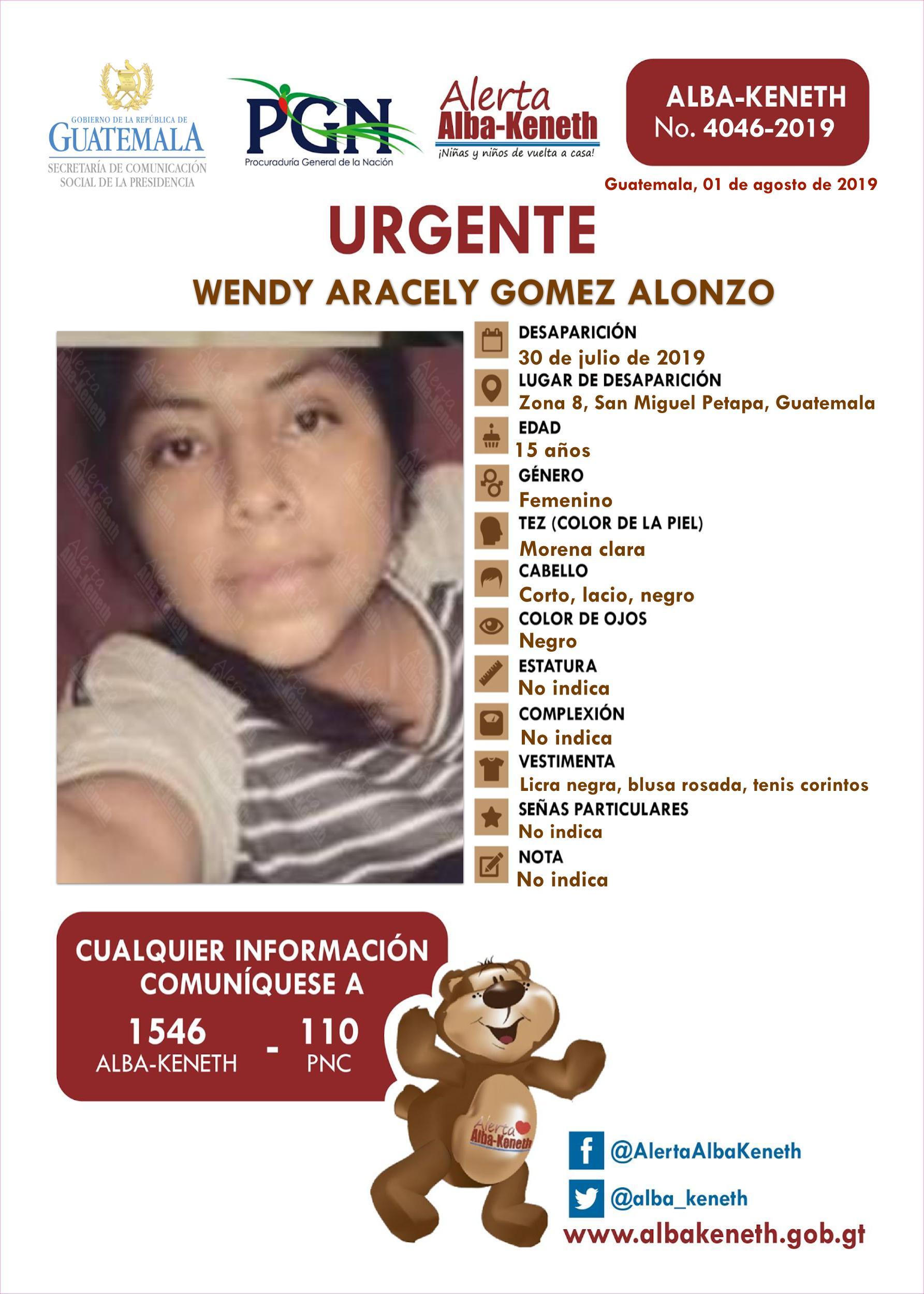 Wendy Aracely Gomez Alonzo