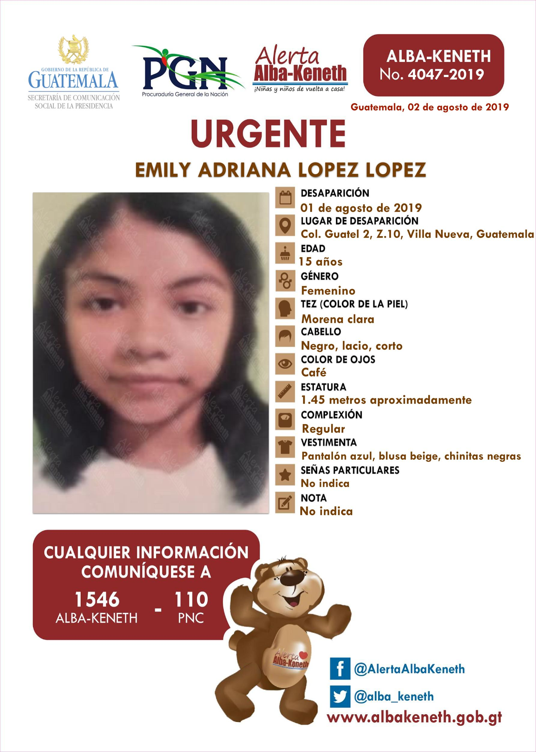 Emily Adriana Lopez Lopez