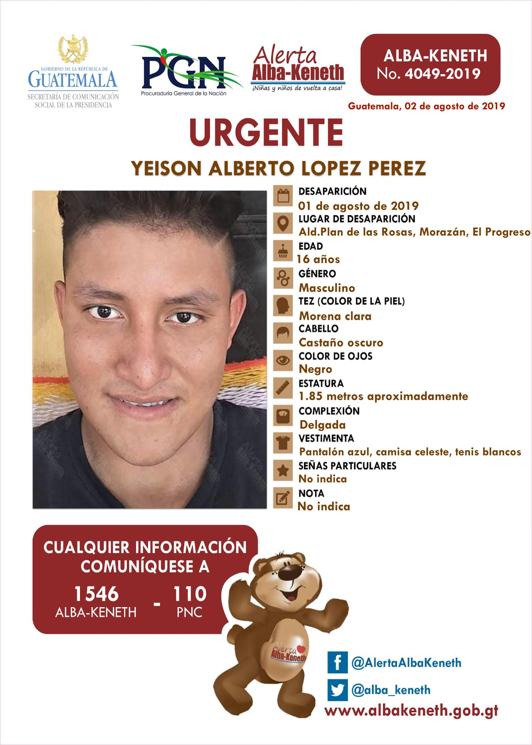 Yeison Alberto Lopez Perez