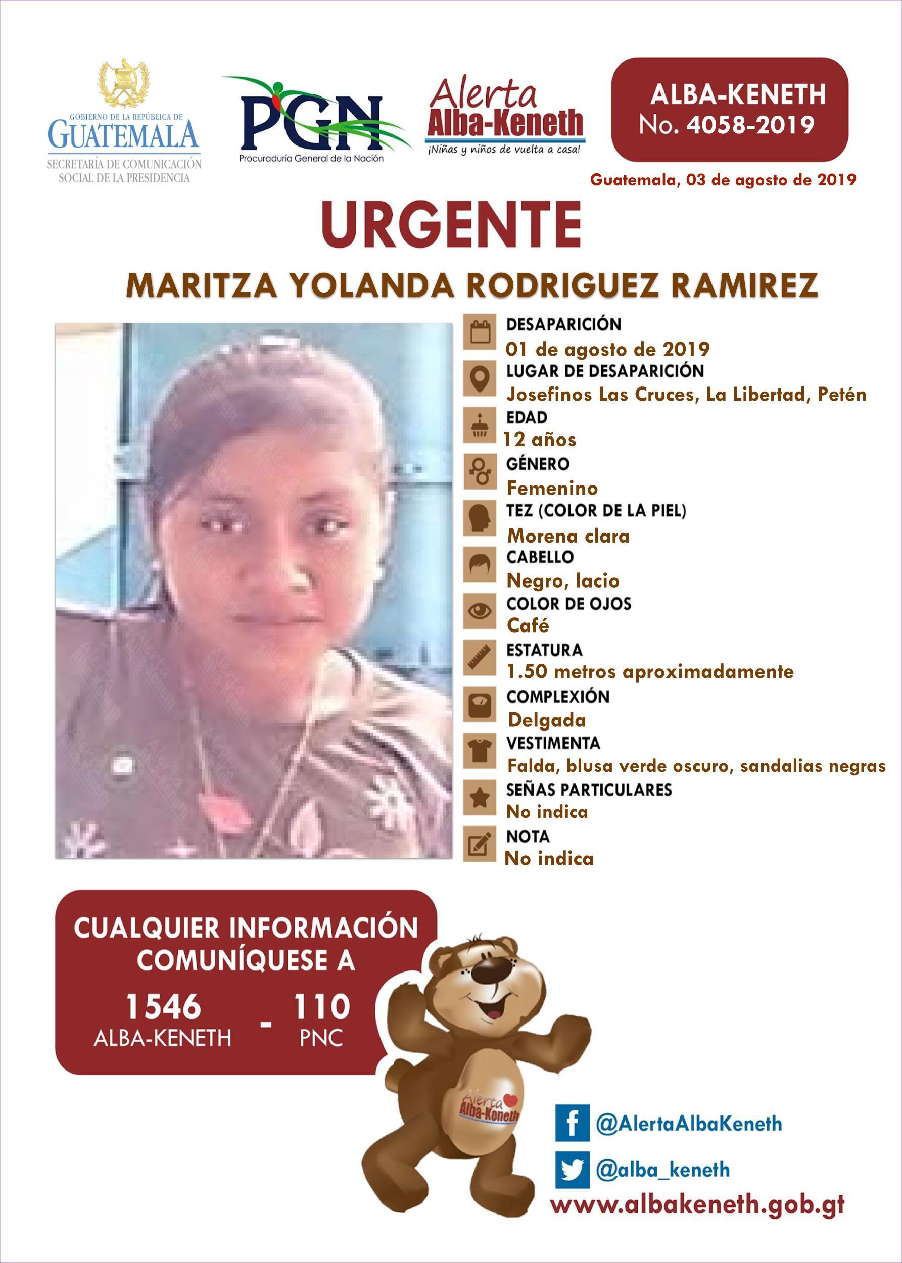 Maritza Yolanda Rodriguez Ramirez