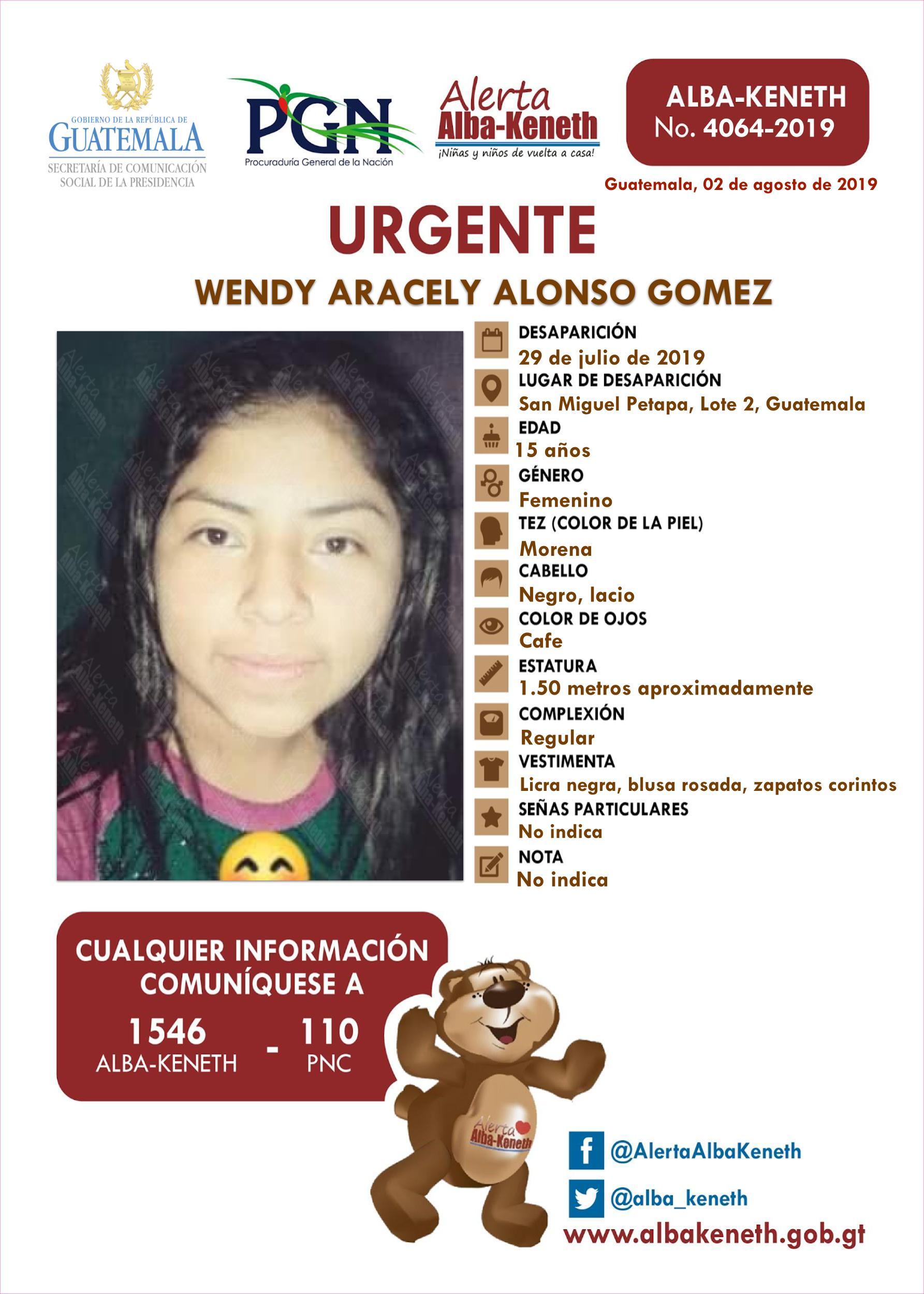 Wendy Aracely Alonso Gomez