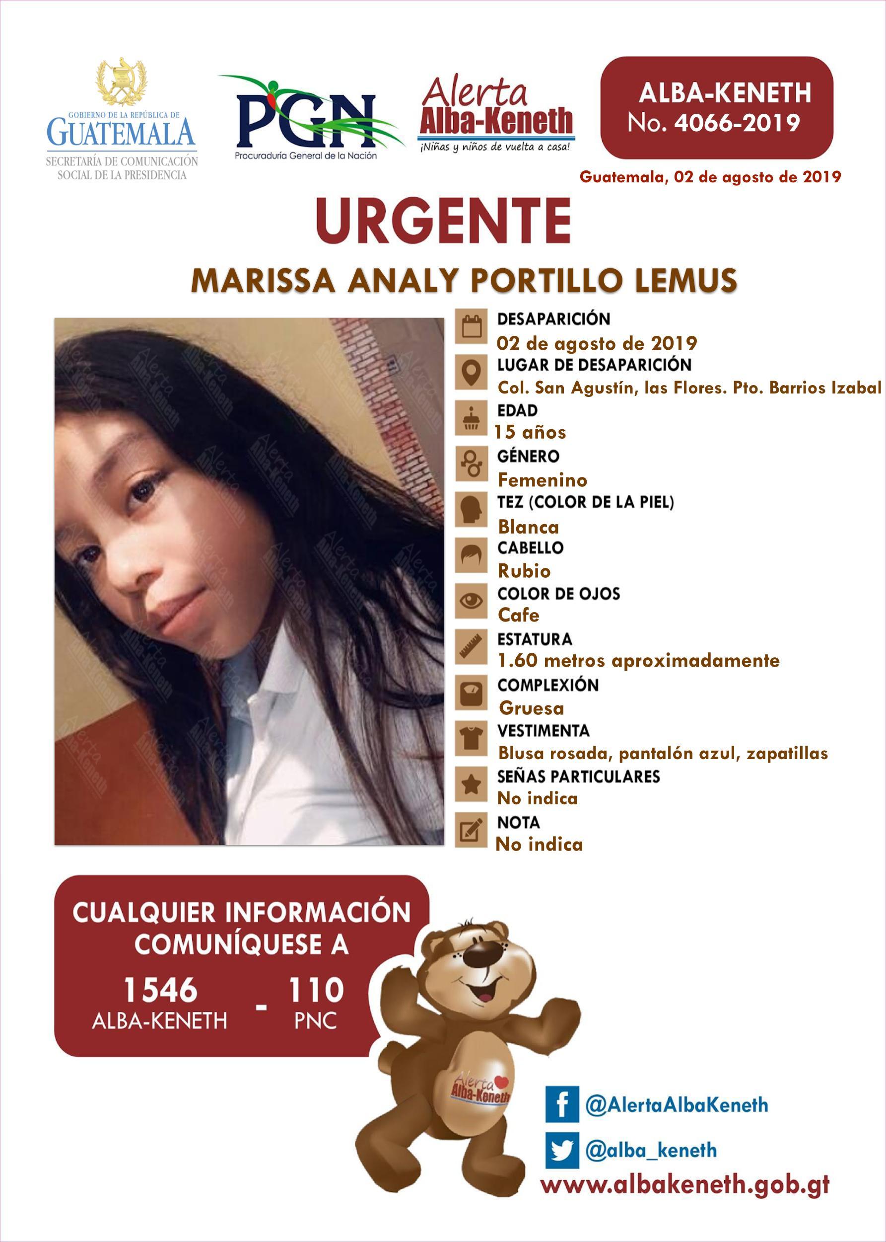 Marissa Analy Portillo Lemus