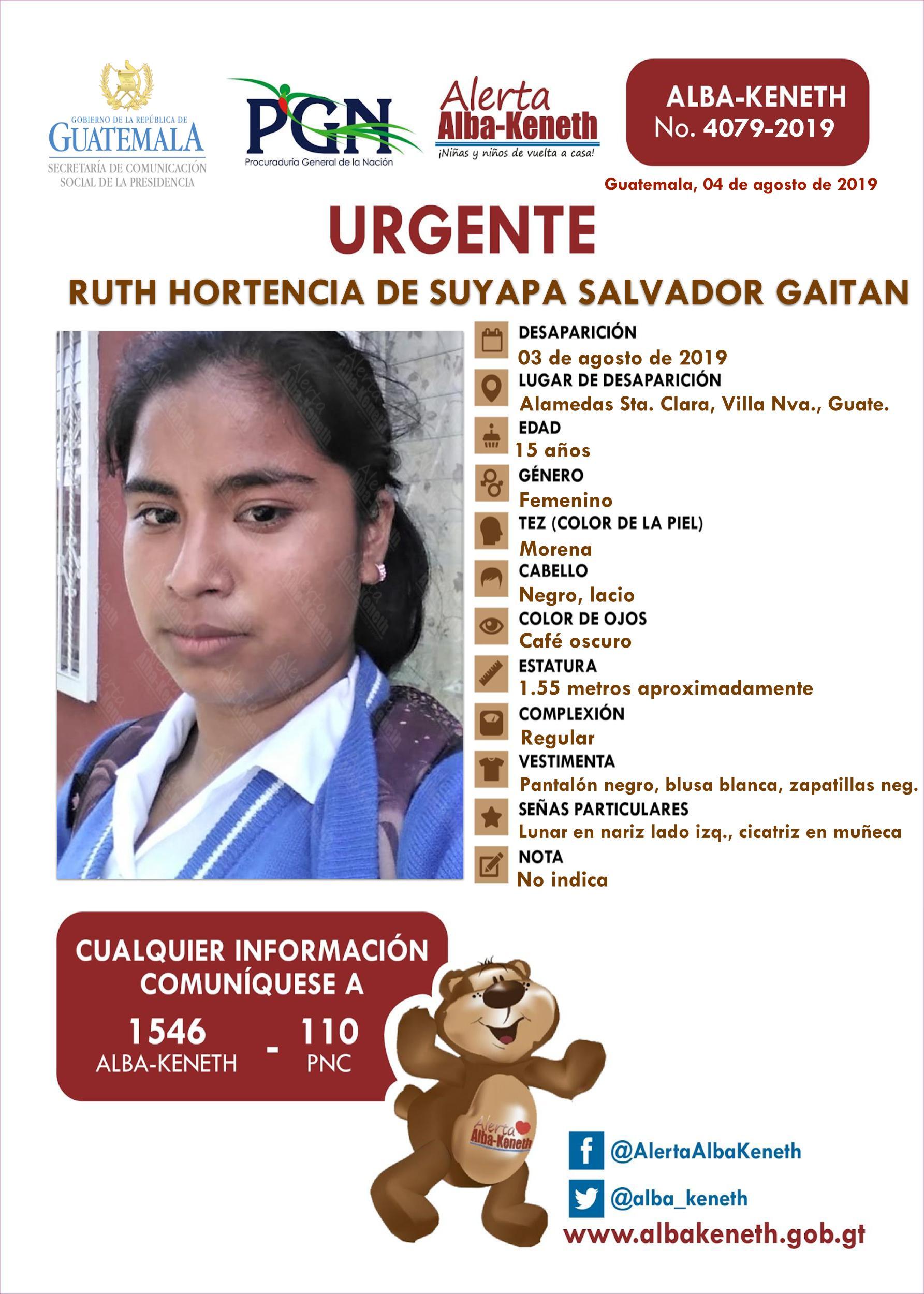 Ruth Hortencia de Suyapa Salvador Gaitan