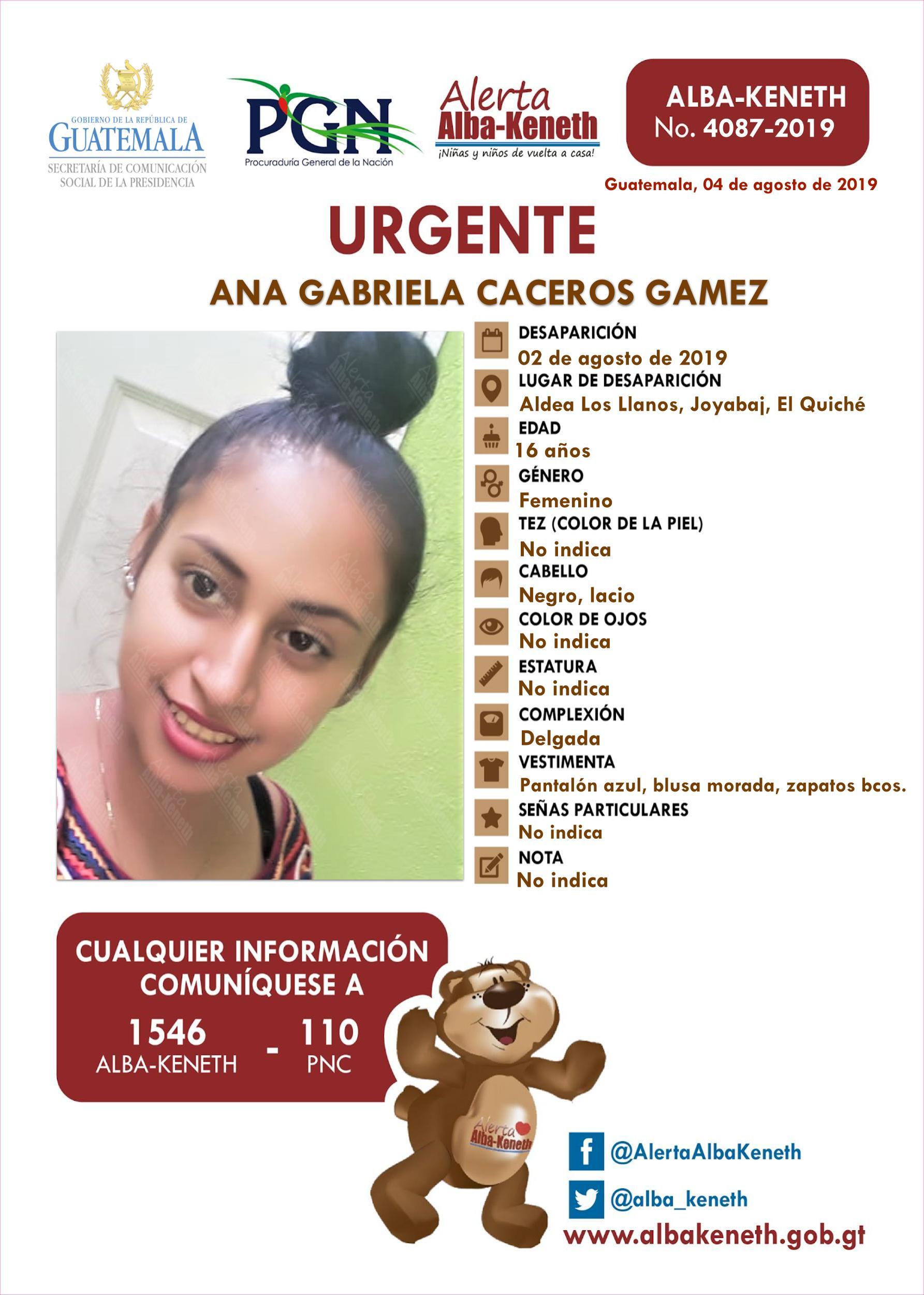 Ana Gabriela Caceros Gamez