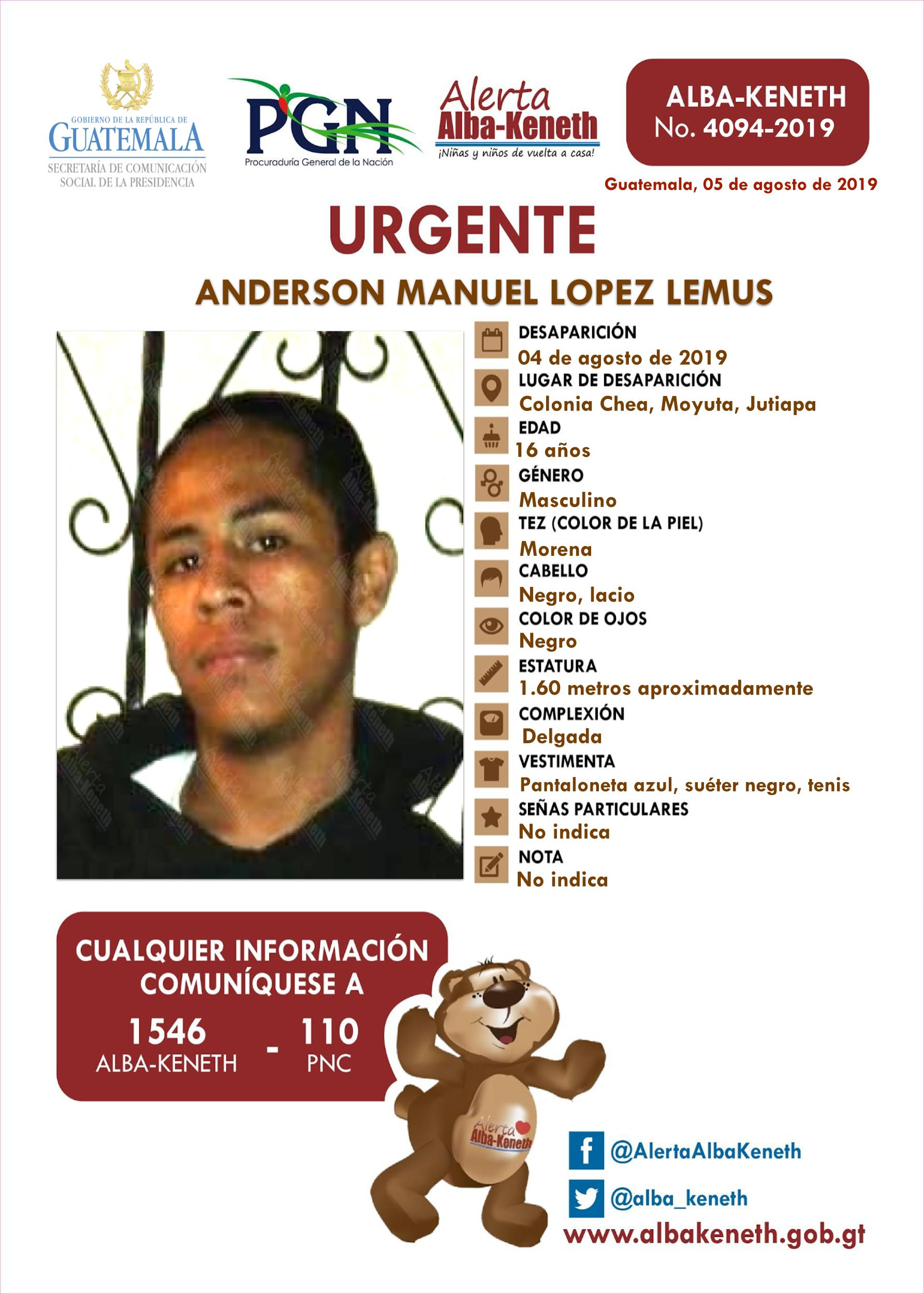 Anderson Manuel Lopez Lemus