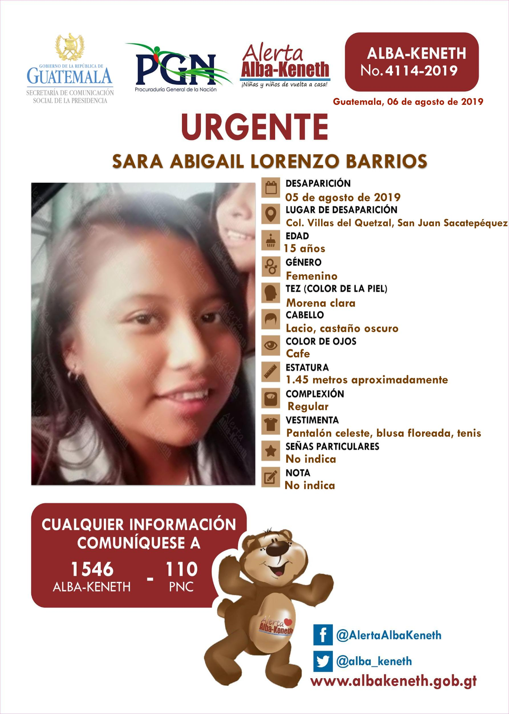 Sara Abigail Lorenzo Barrios