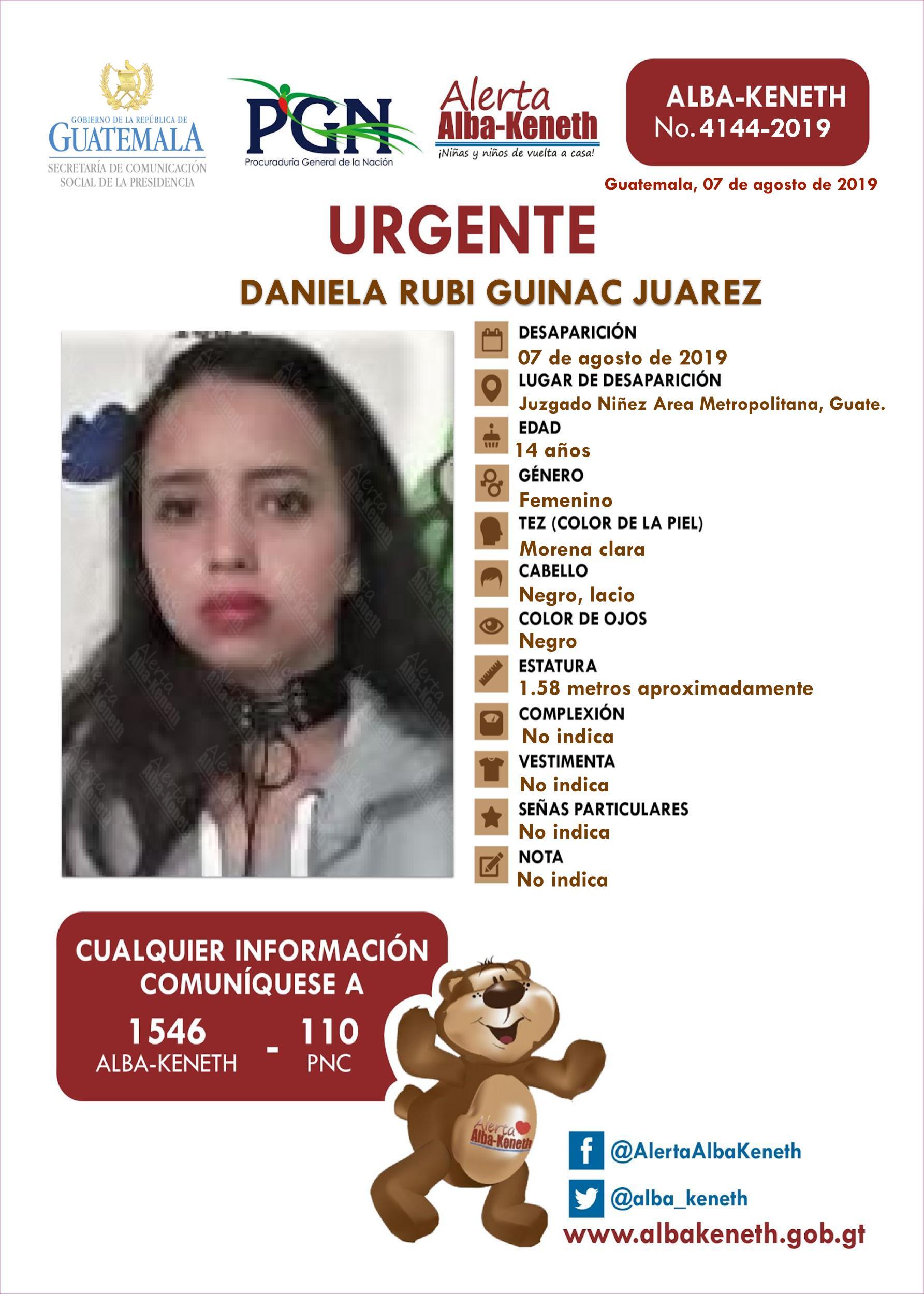 Daniela Rubi Guinac Juarez