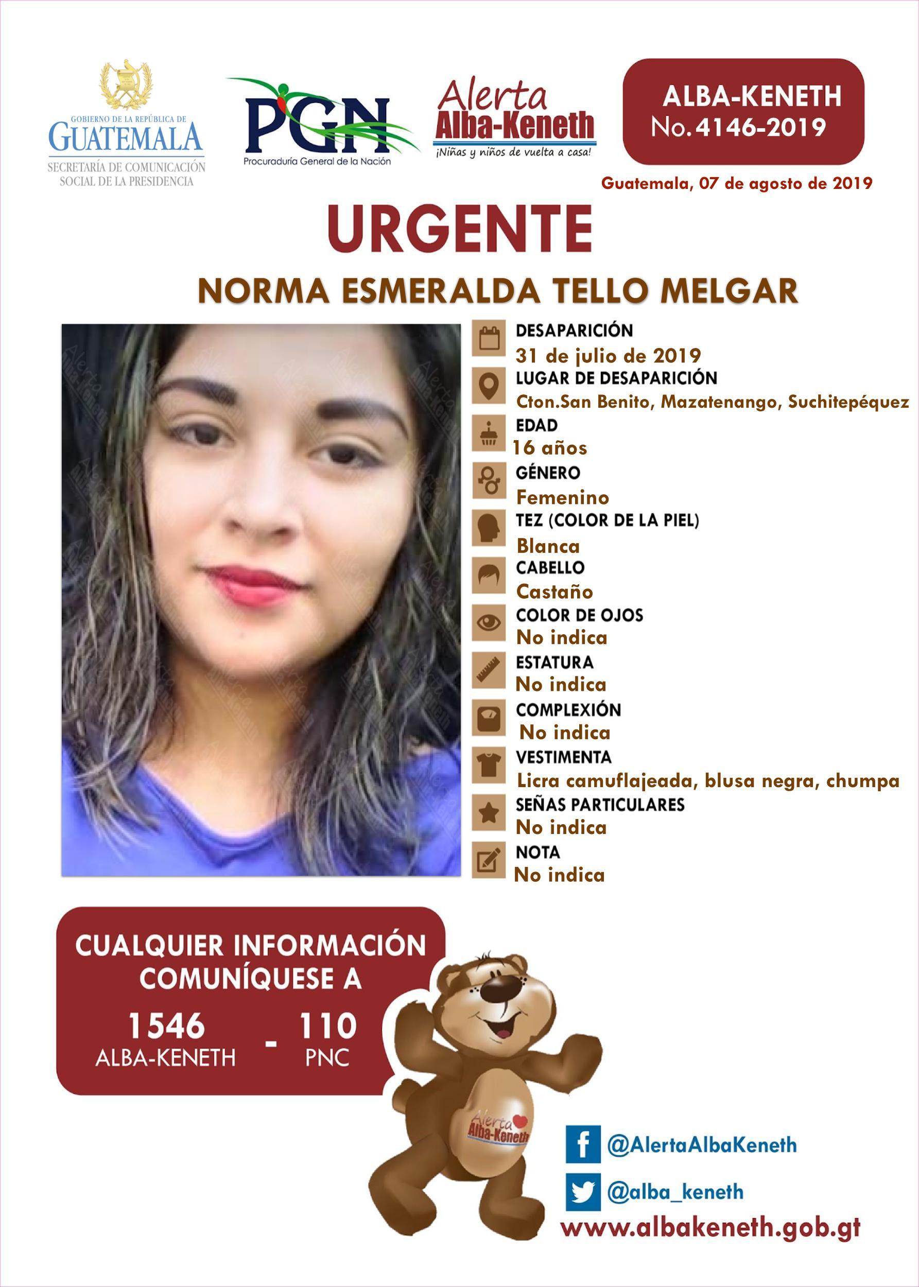 Norma Esmeralda Tello Melgar