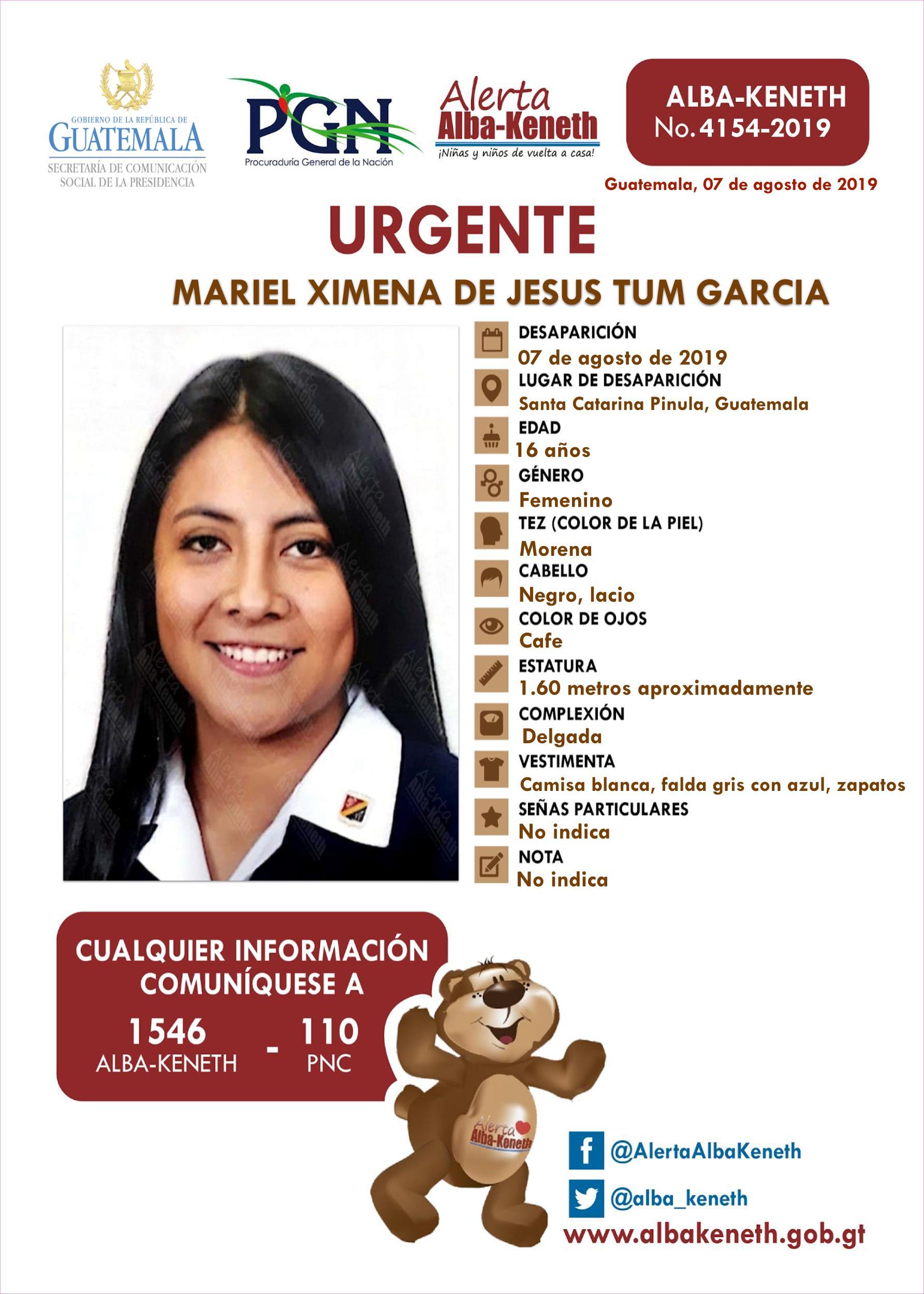 Mariel Ximena de Jesus Tum Garcia