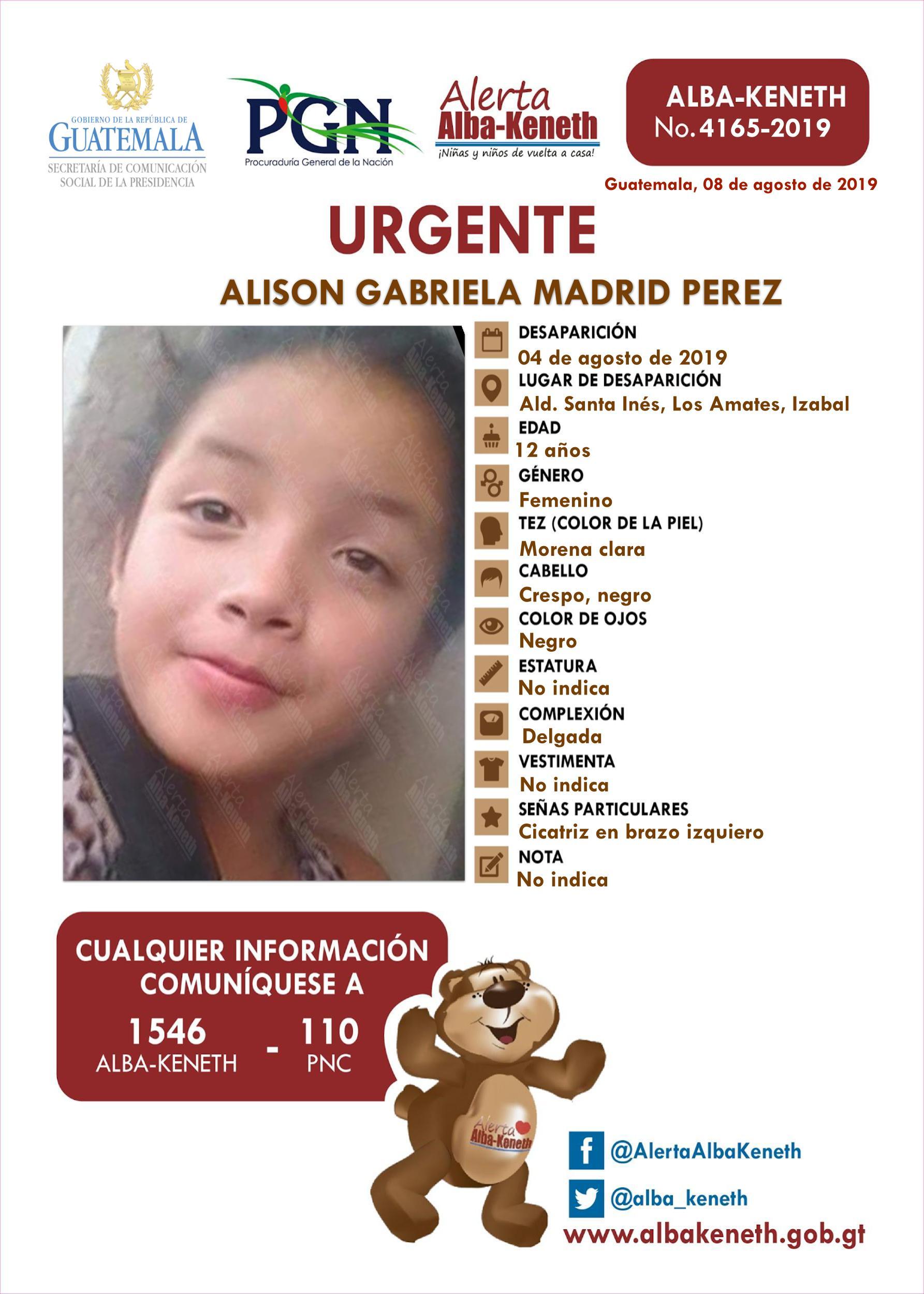 Alison Gabriela Madrid Perez