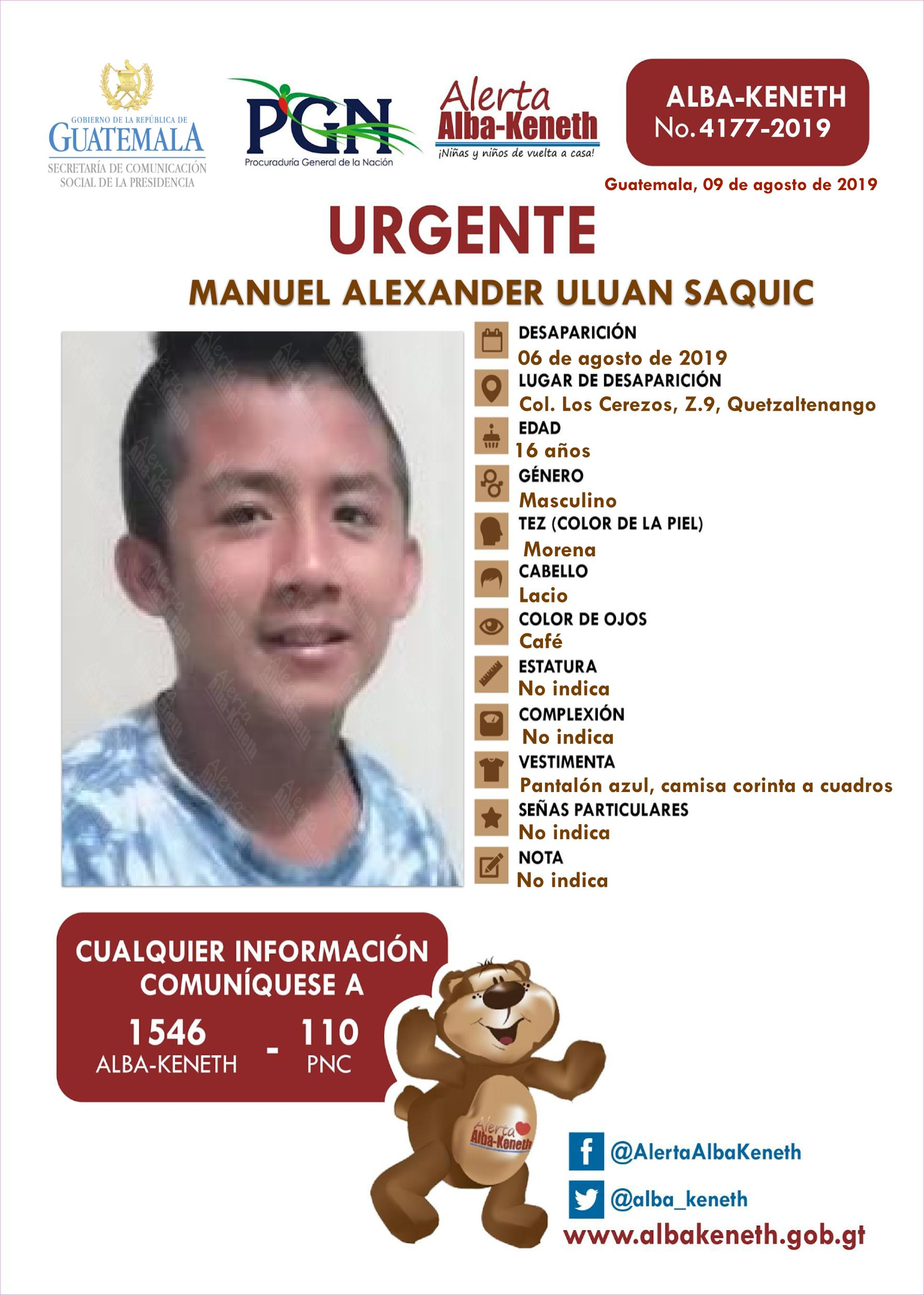 Manuel Alexander Uluan Saquic