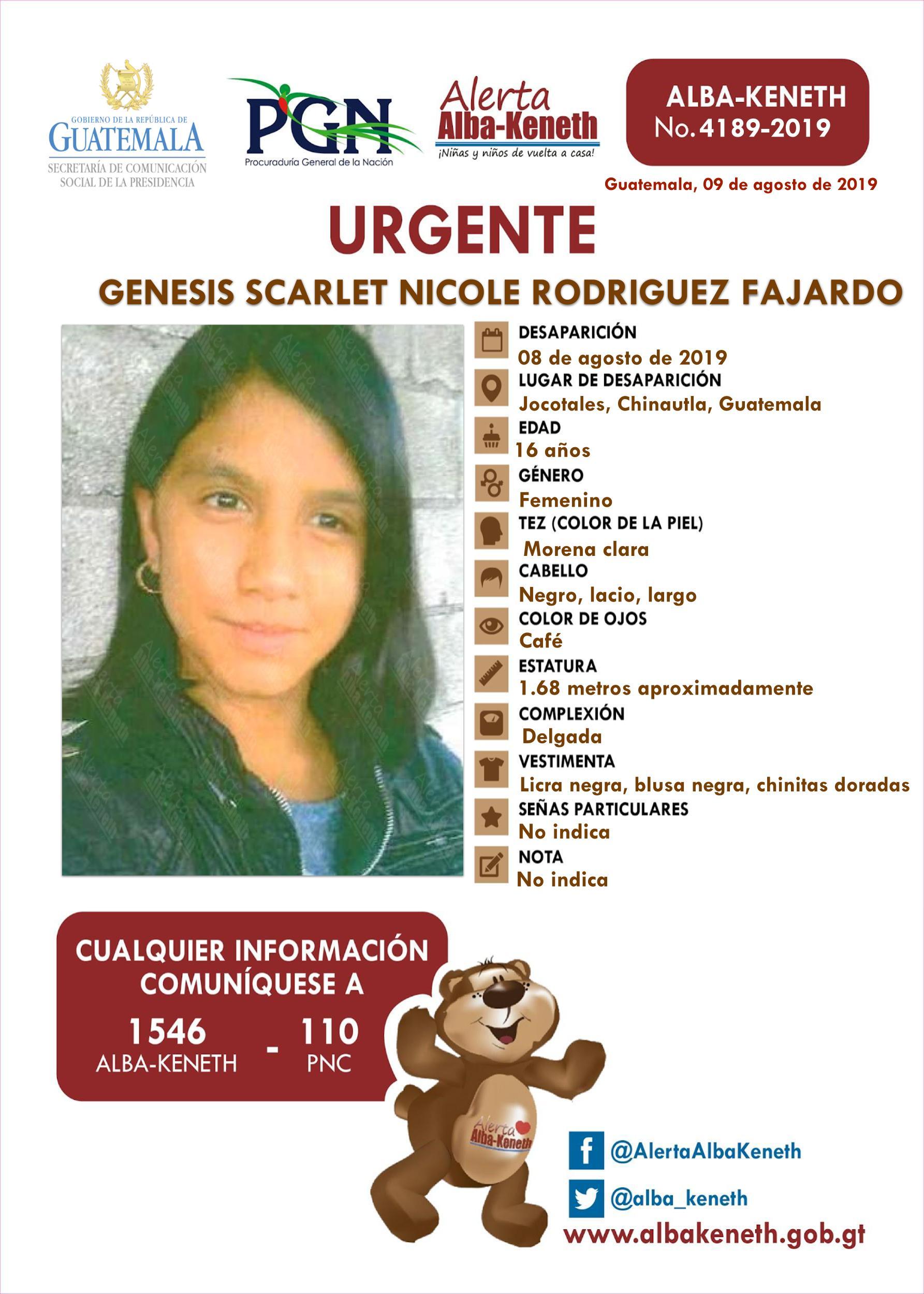 Genesis Scarlet Nicole Rodriguez Fajardo