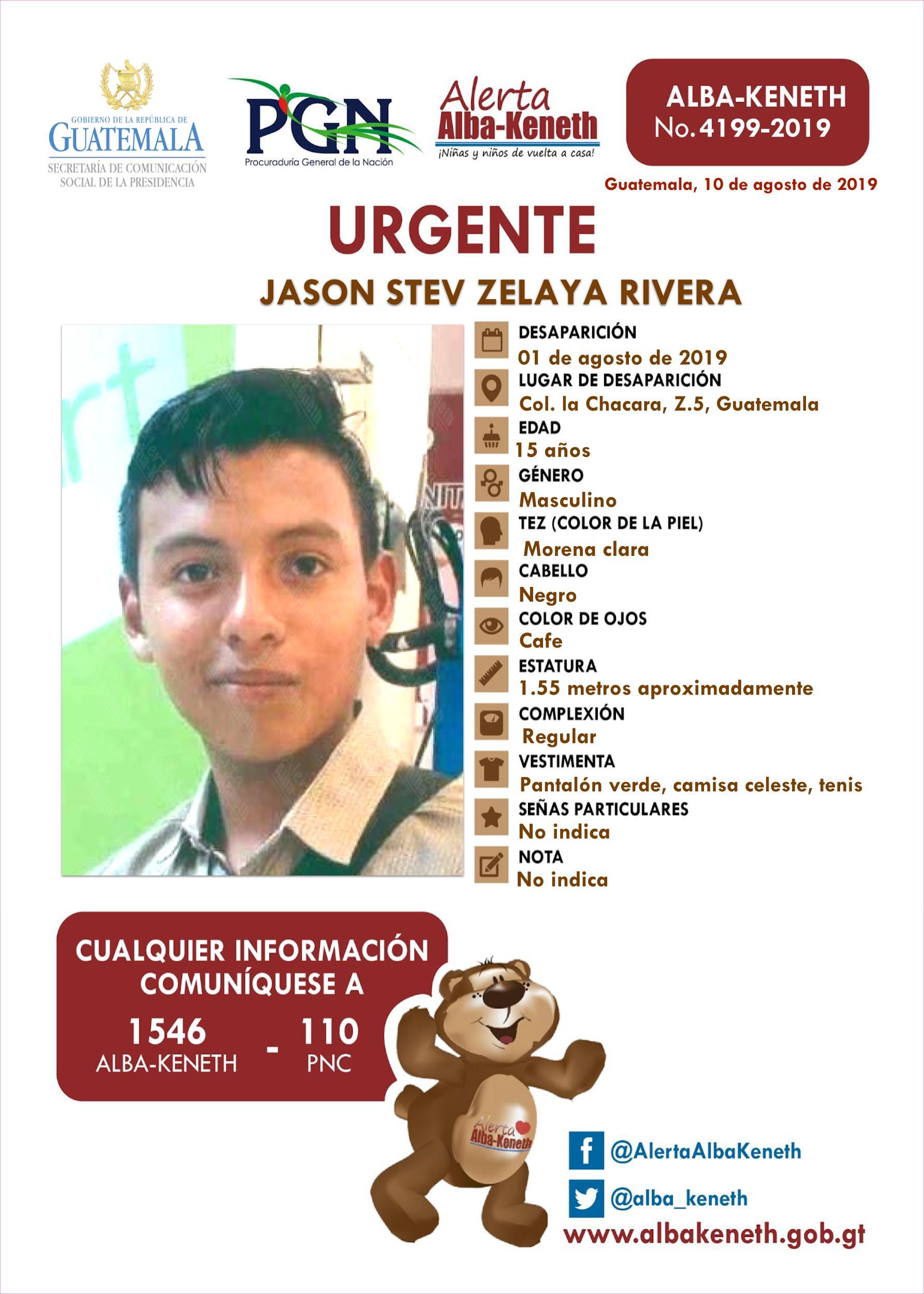 Jason Stev Zelaya Rivera