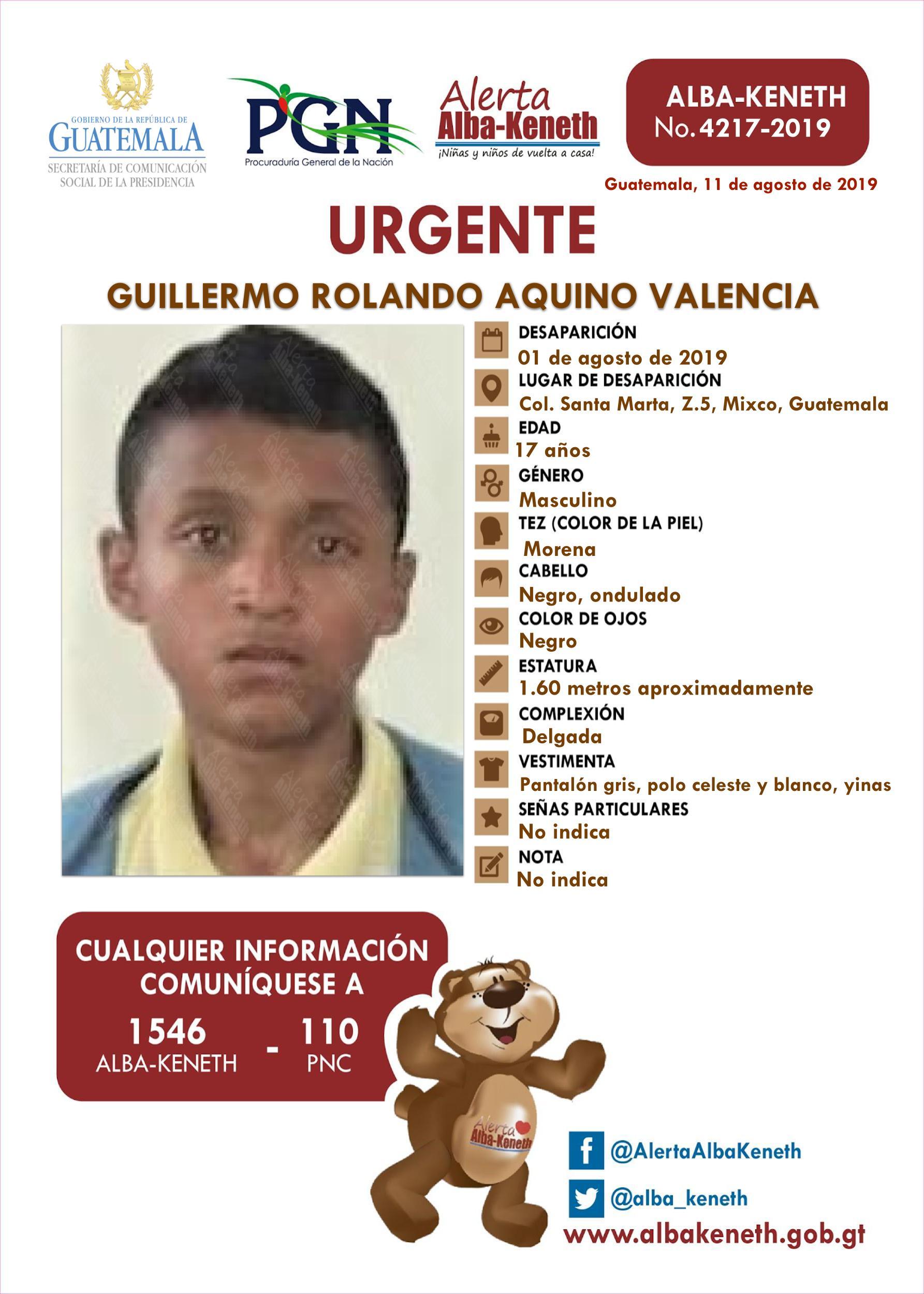 Guillermo Rolando Aquino Valencia