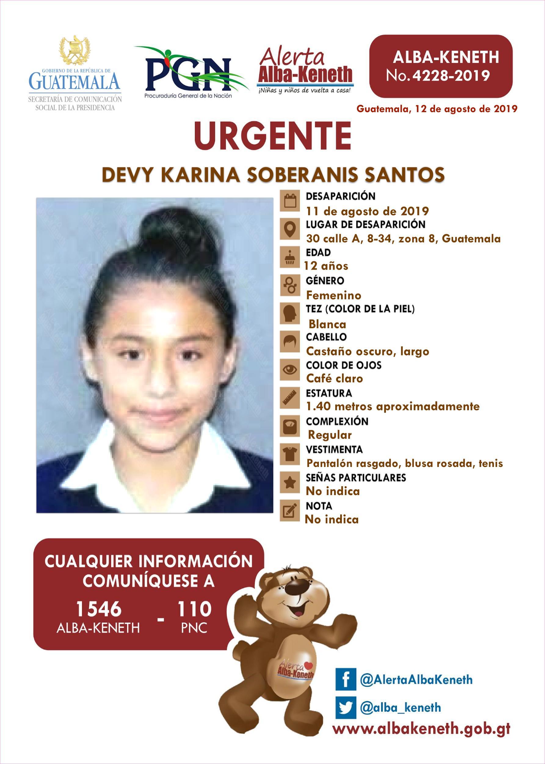 Devy Karina Soberanis Santos