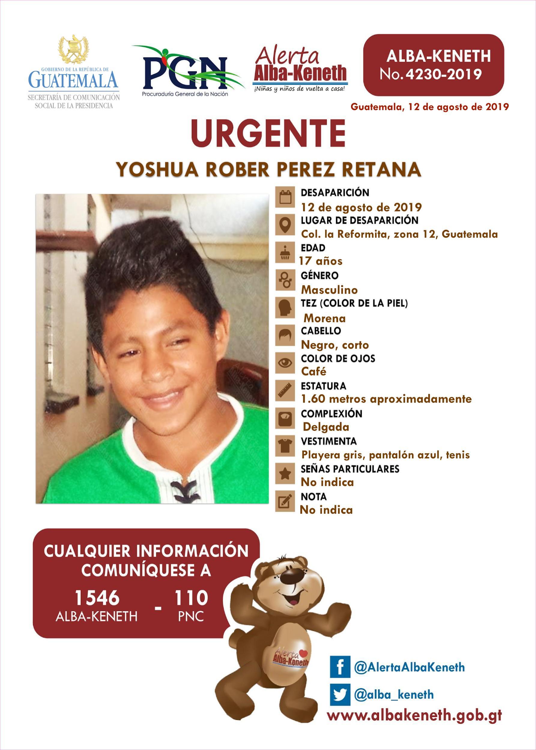 Yoshua Rober Perez Retana