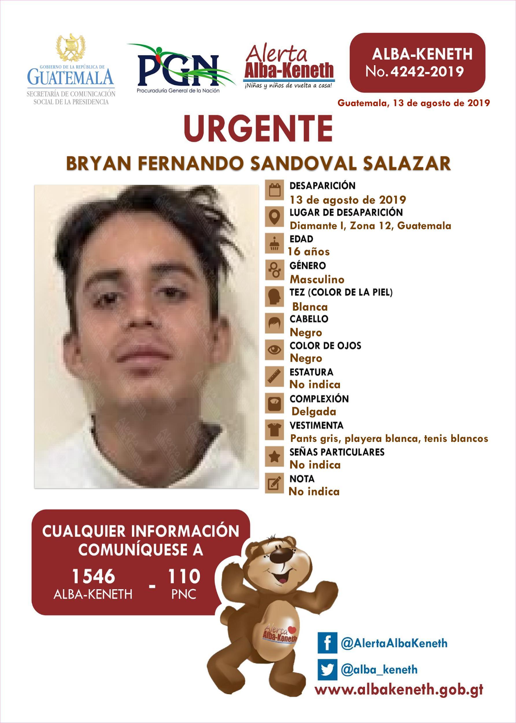 Bryan Fernando Sandoval Salazar