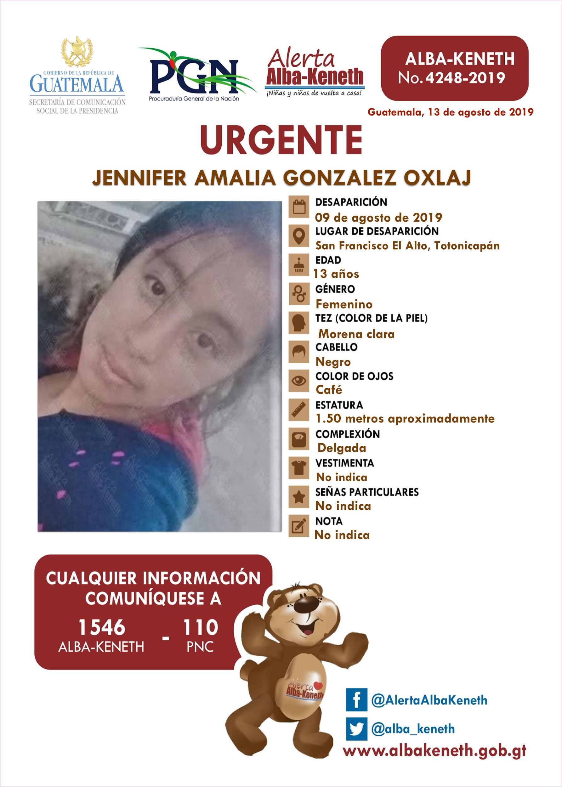Jennifer Amalia Gonzalez Oxlaj