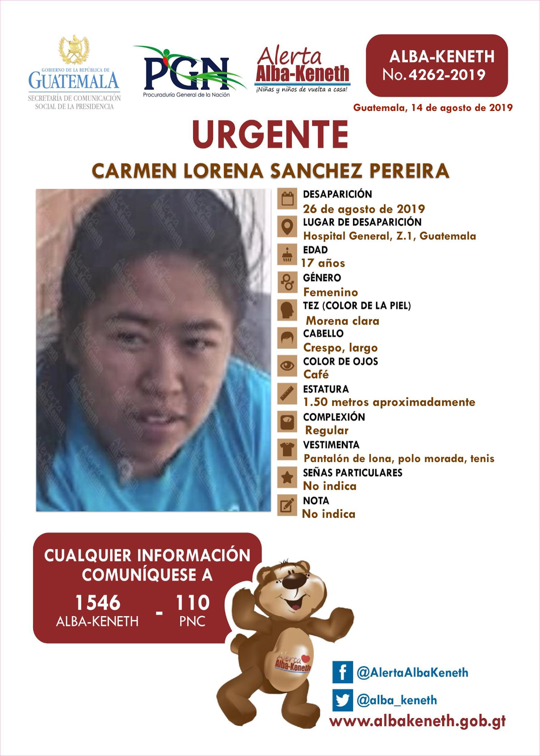 Carmen Lorena Sanchez Pereira