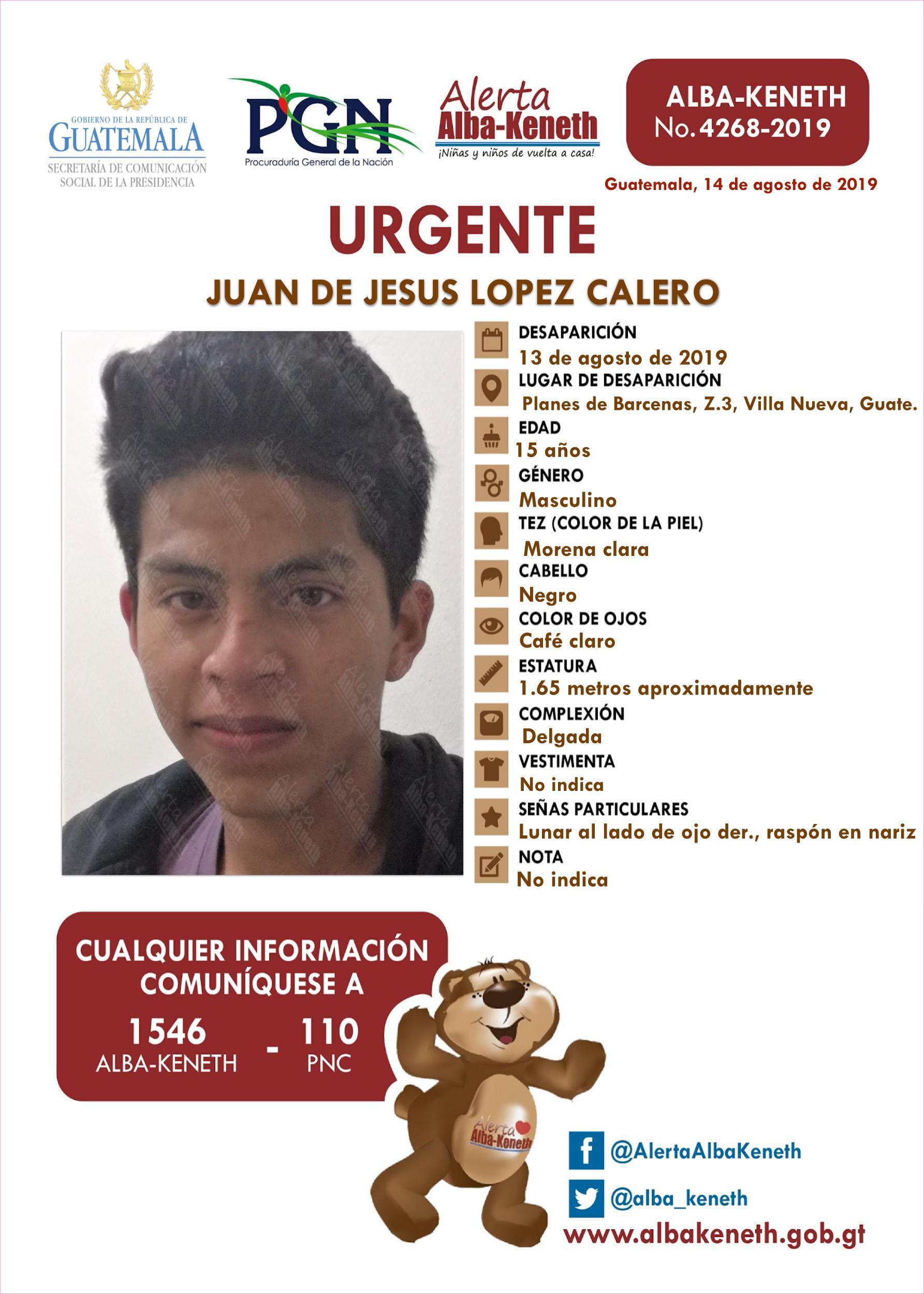 Juan de Jesus Lopez Calero