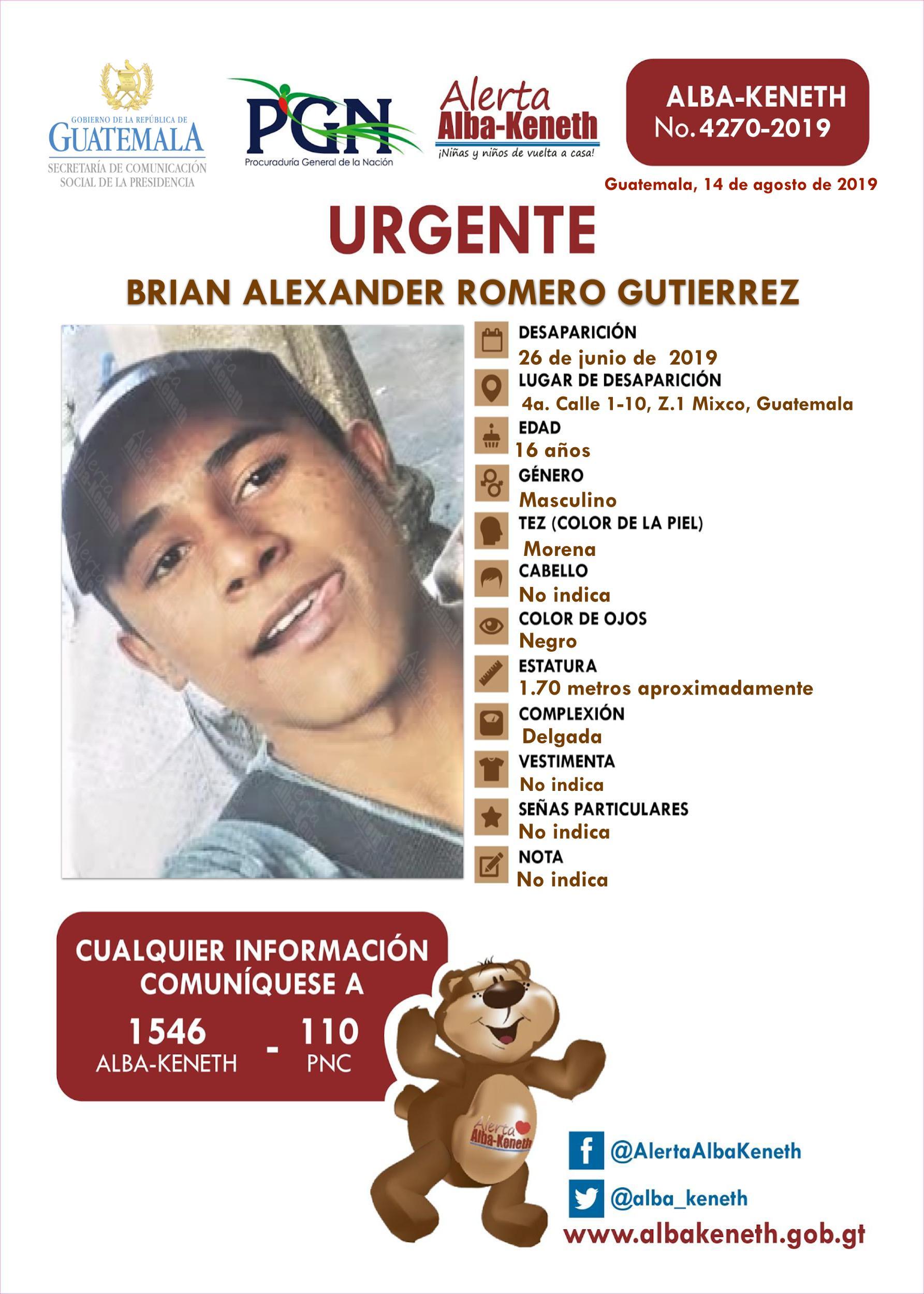 Brian Alexander Romero Gutierrez