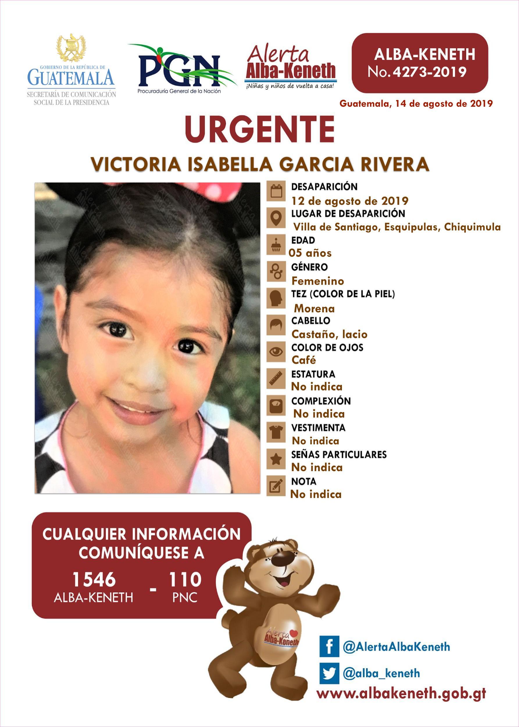 Victoria Isabella Garcia Rivera