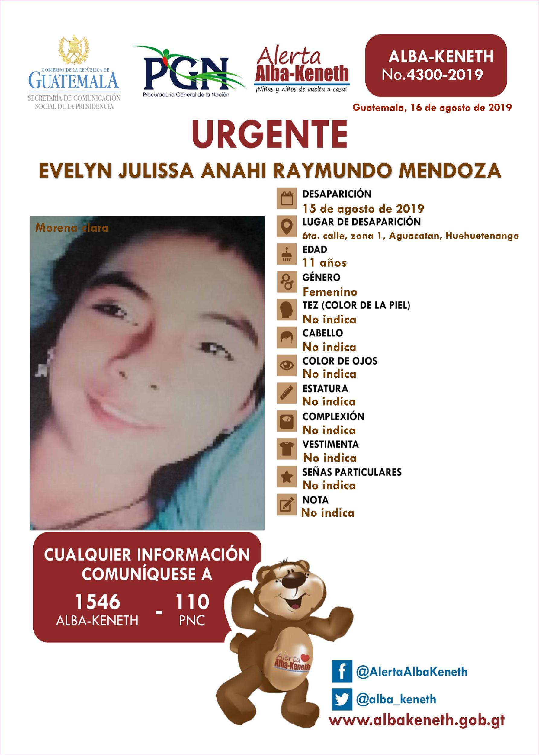 Evelyn Julissa Anahi Raymundo Mendoza
