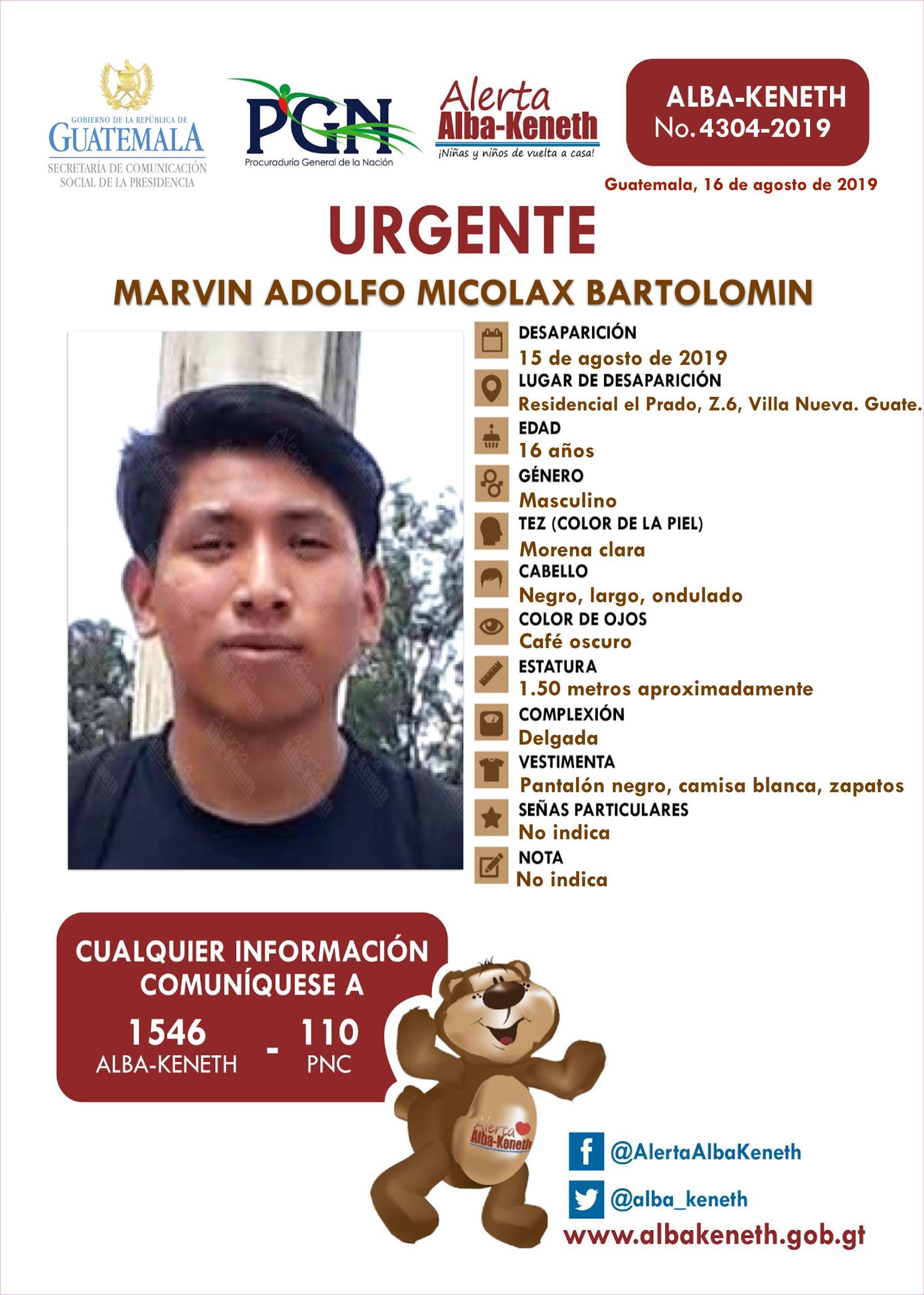 Marvin Adolfo Micolax Bartolomin
