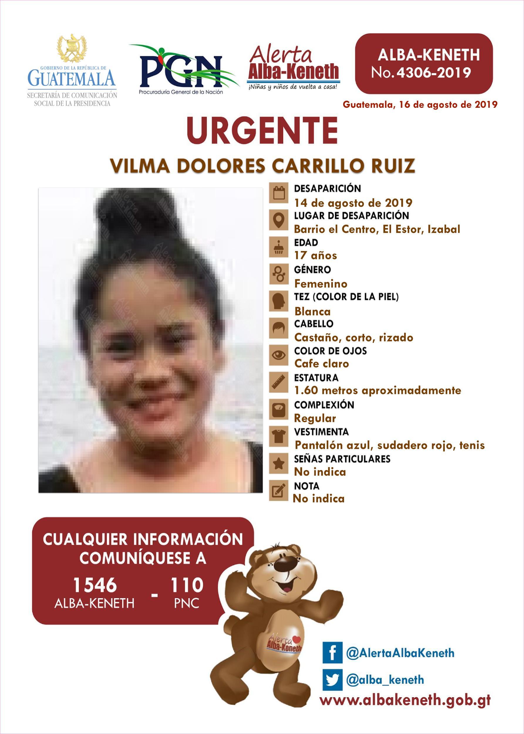 Vilma Dolores Carrillo Ruiz