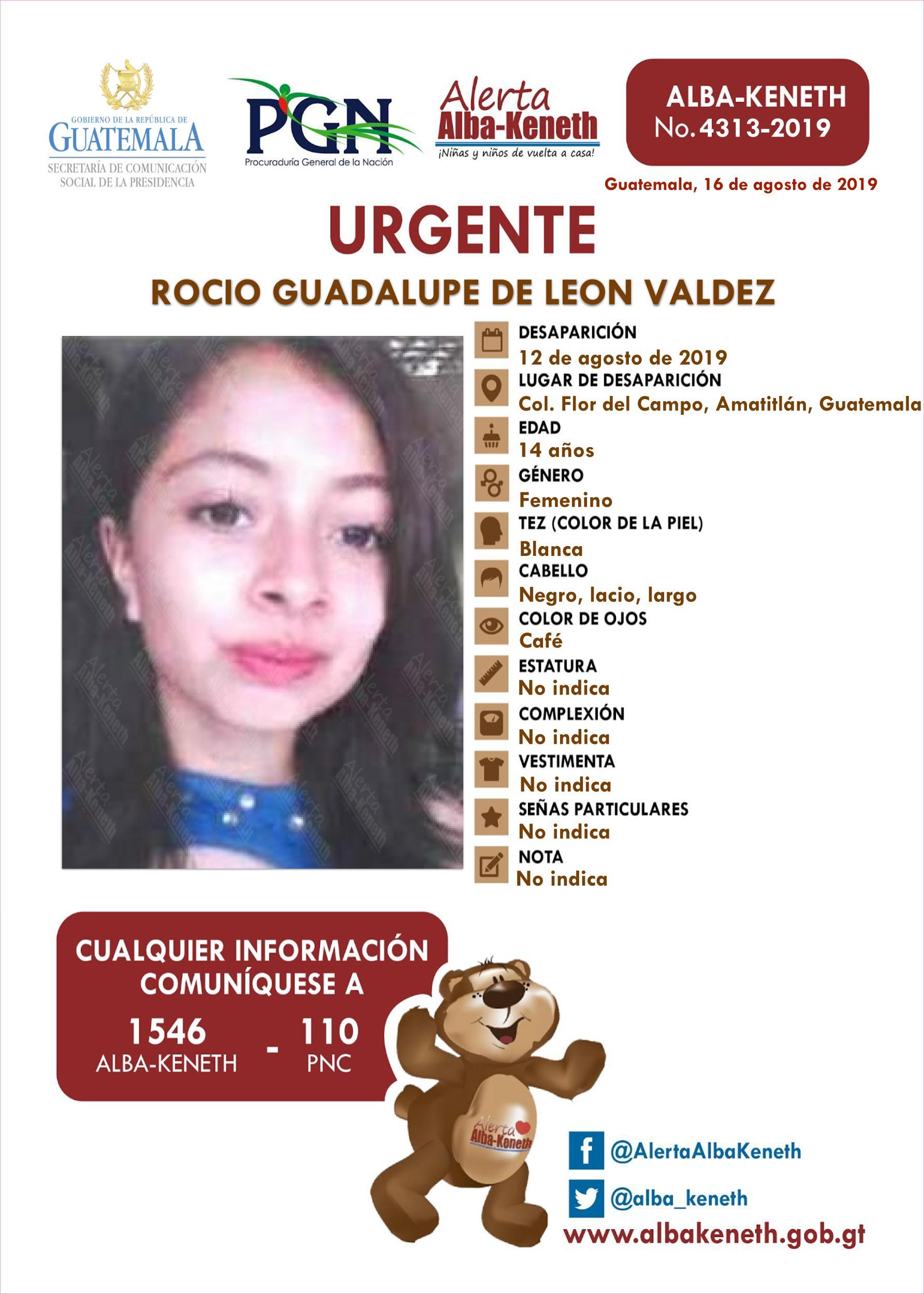 Rocio Guadalupe de Leon Valdez