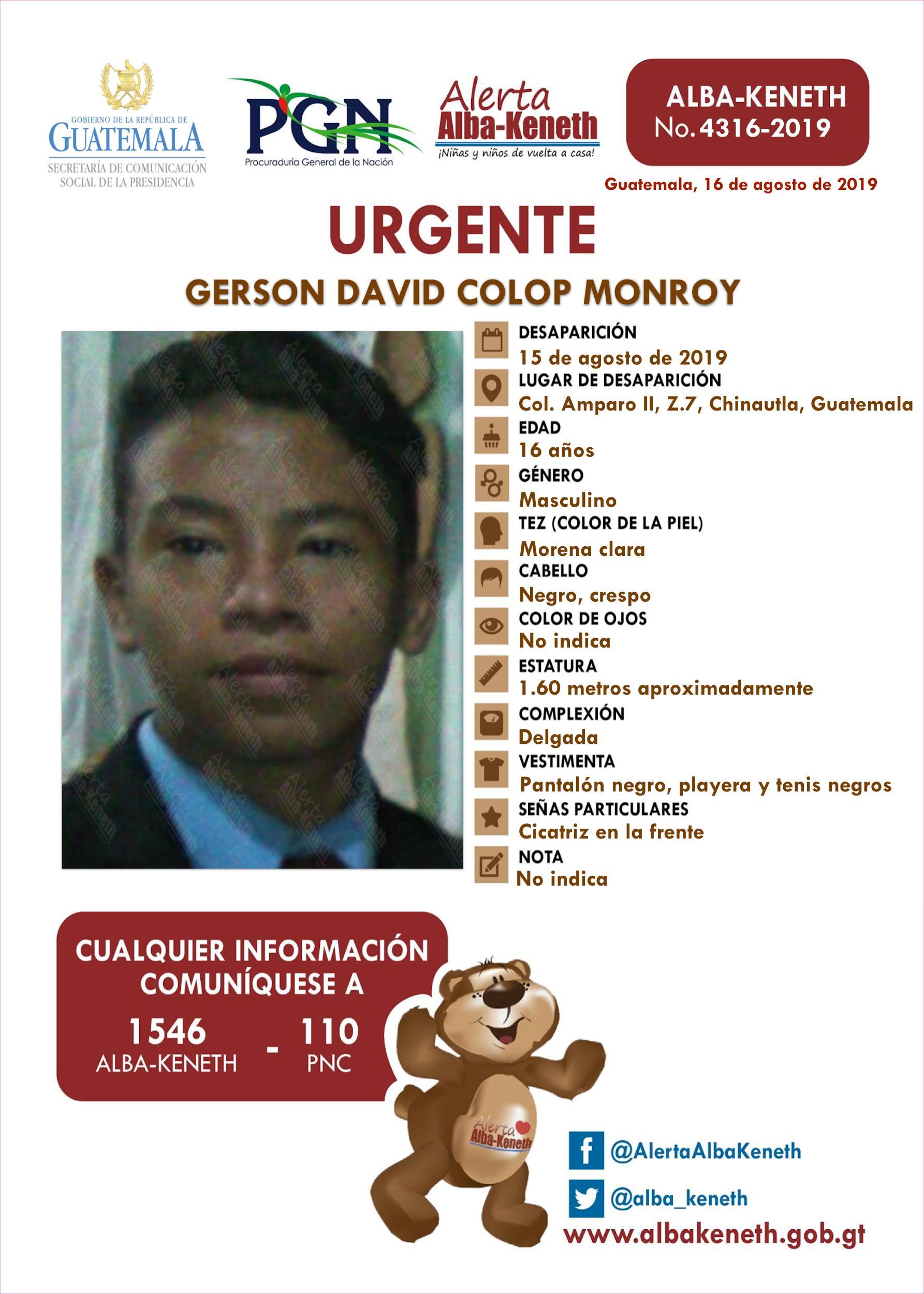 Gerson David Colop Monroy