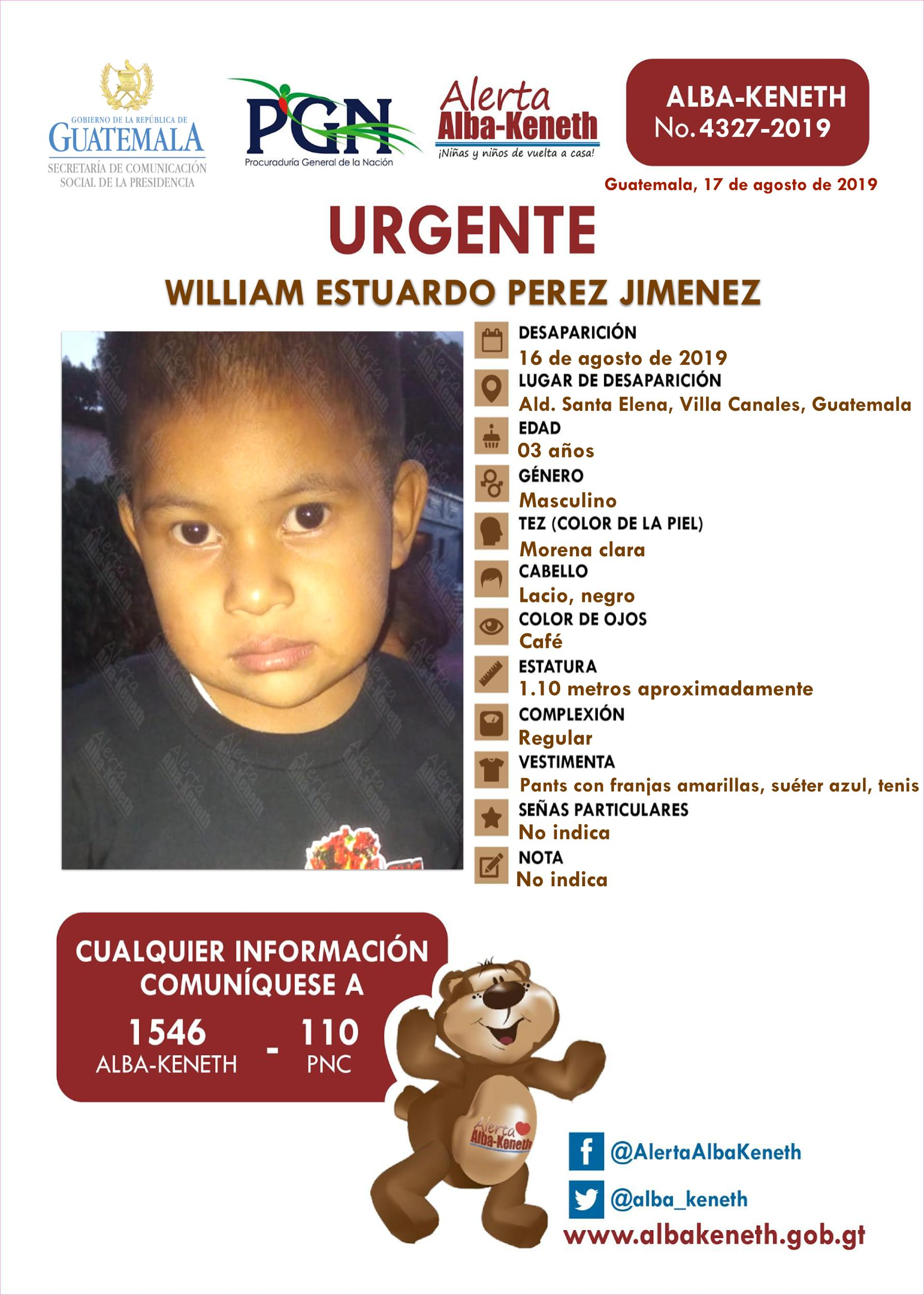 William Estuardo Perez Jimenez