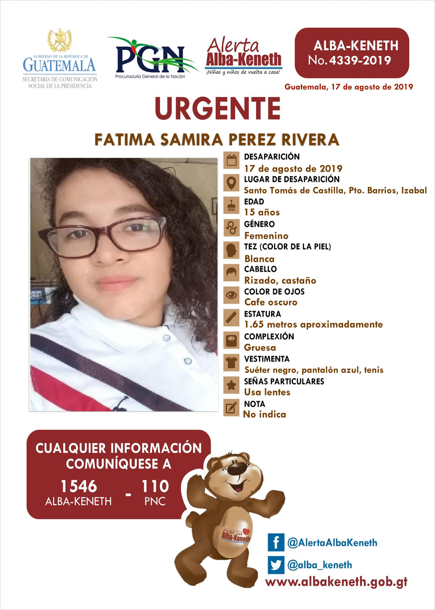 Fatima Samira Perez Rivera