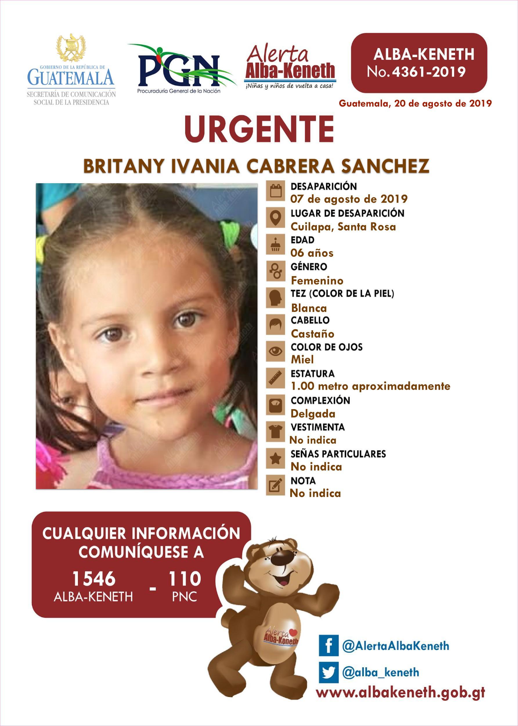 Britany Ivania Cabrera Sanchez