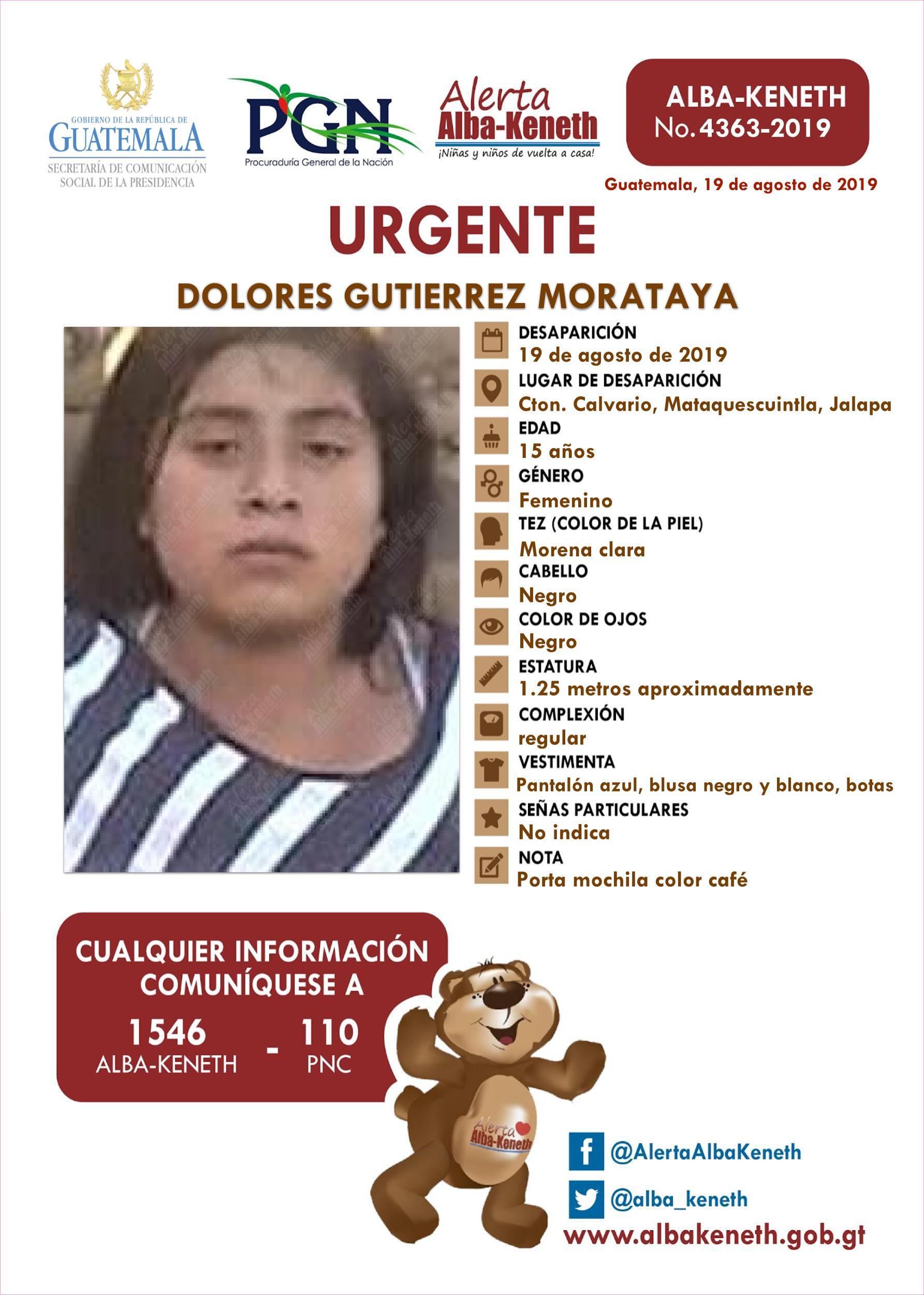 Dolores Gutierrez Morataya