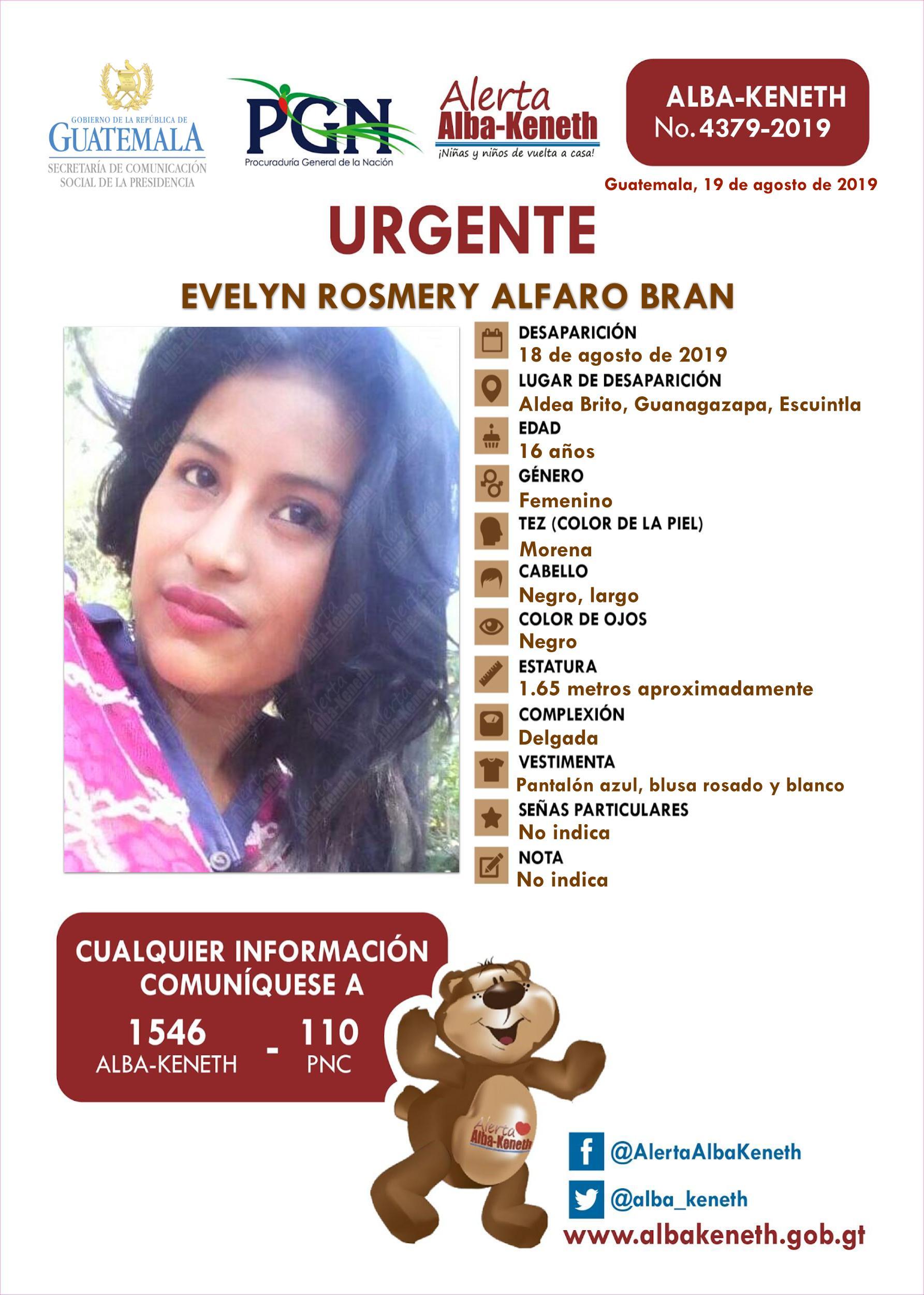 Evelyn Rosmery Alfaro Bran