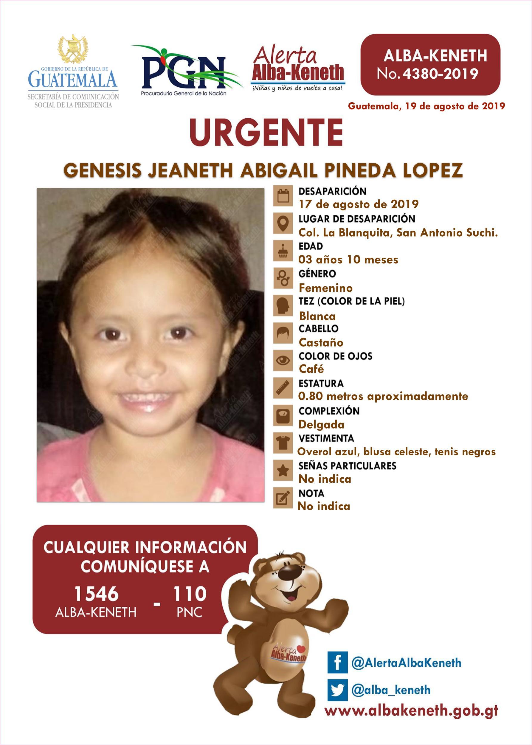Genesis Jeaneth Abigail Pineda Lopez