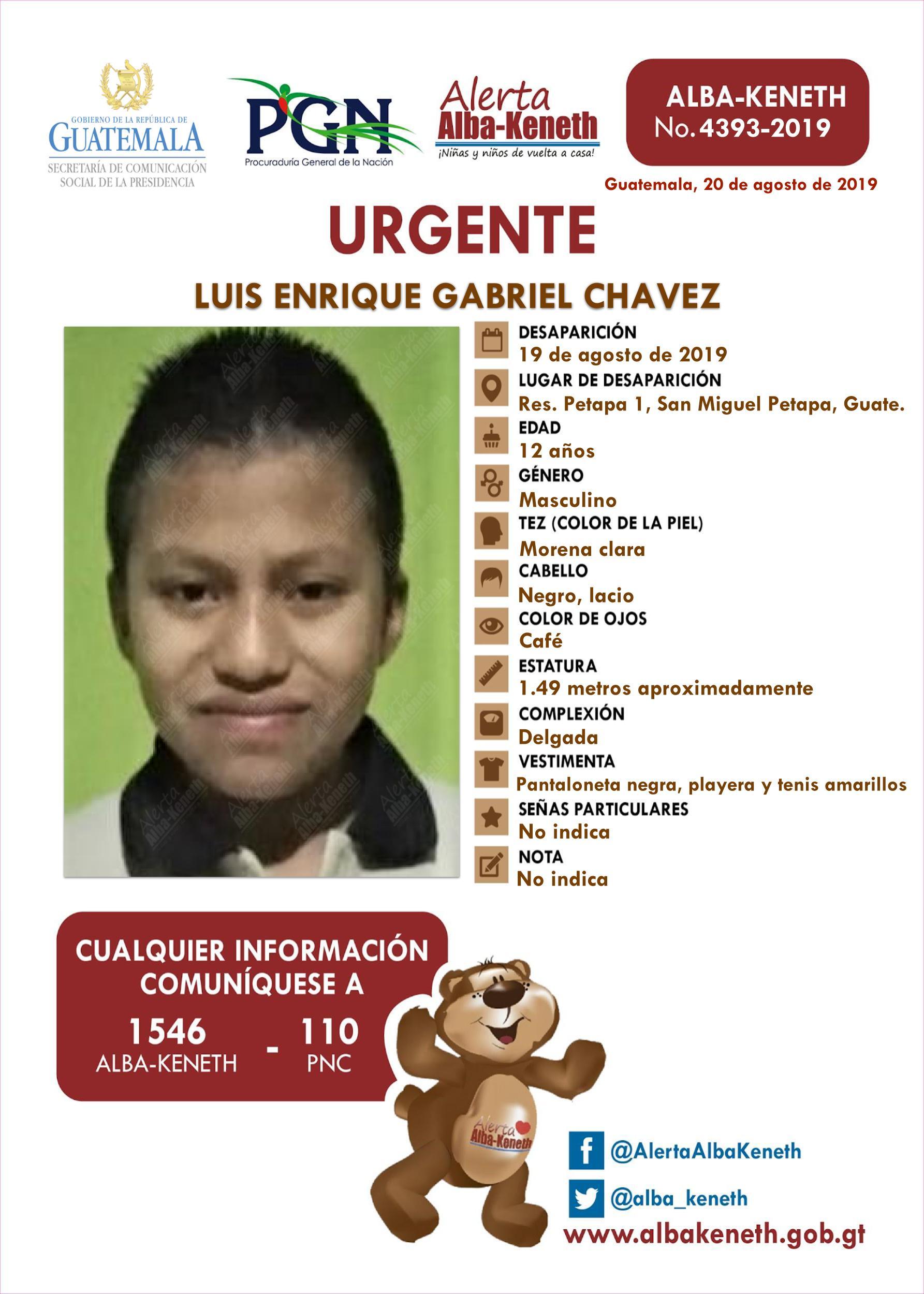 Luis Enrique Gabriel Chavez