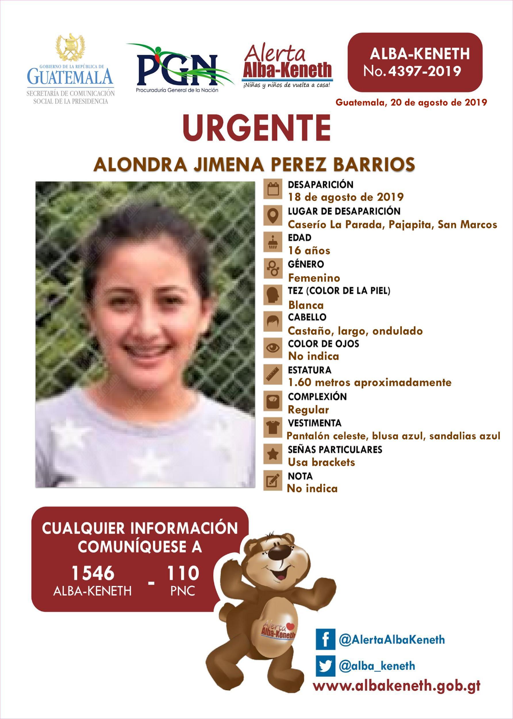 Alondra Jimena Perez Barrios