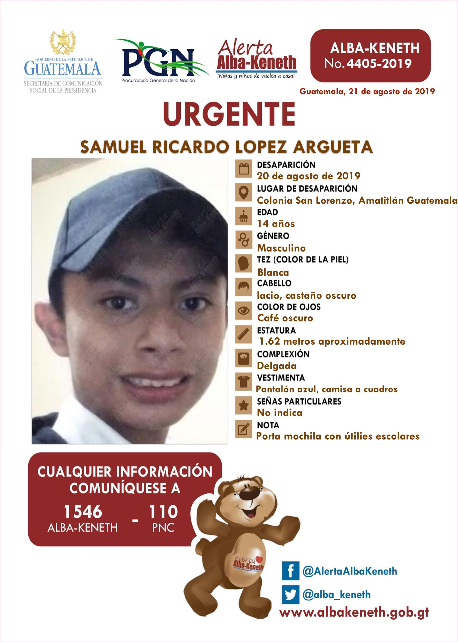 Samuel Ricardo Lopez Argueta