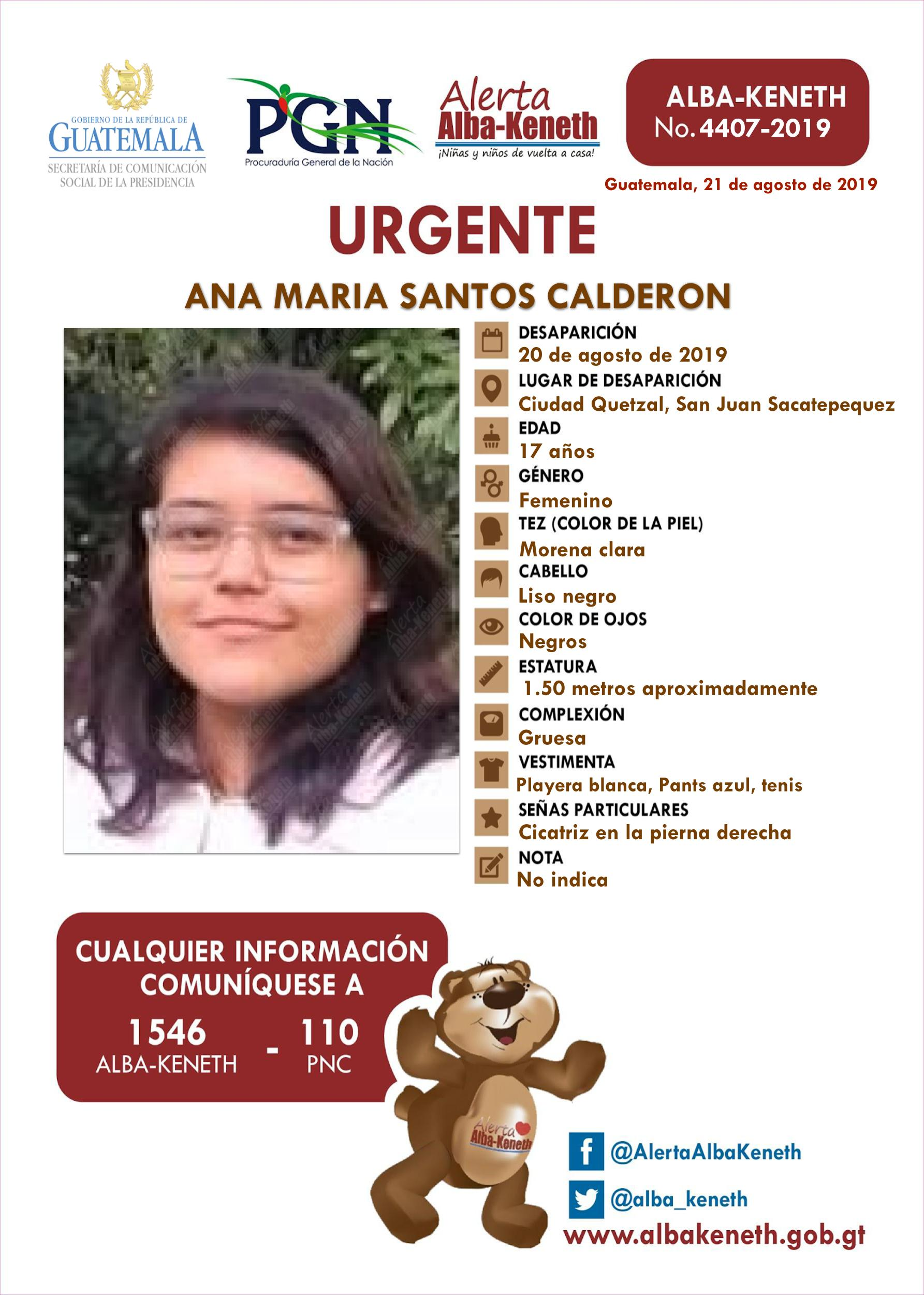 Ana Maria Santos Calderon