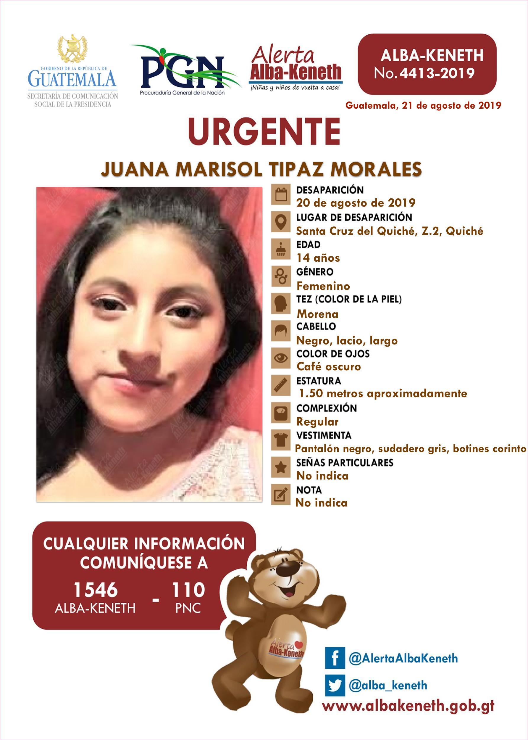 Juana Marisol Tipaz Morales