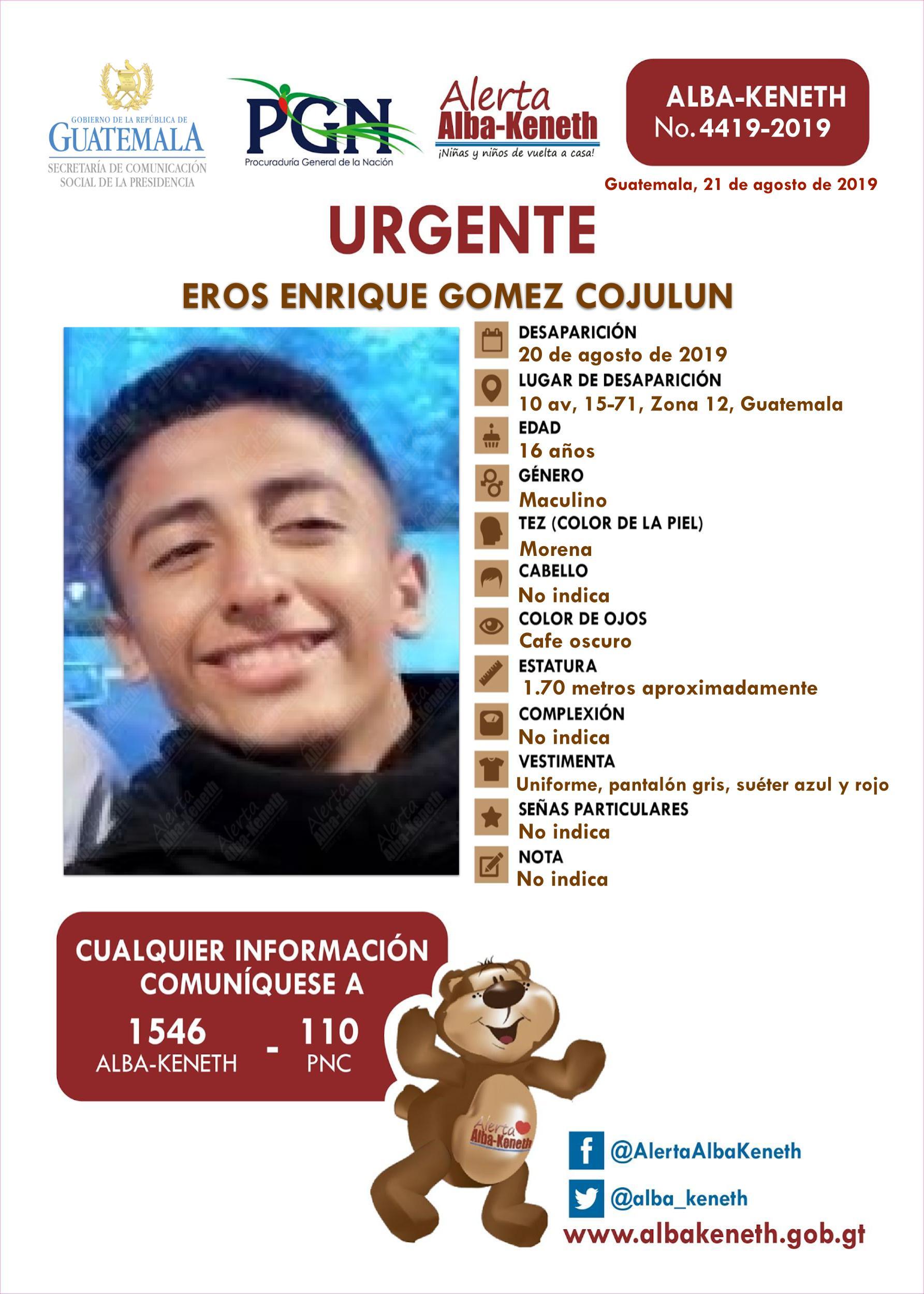 Eros Enrique Gomez Cujulun
