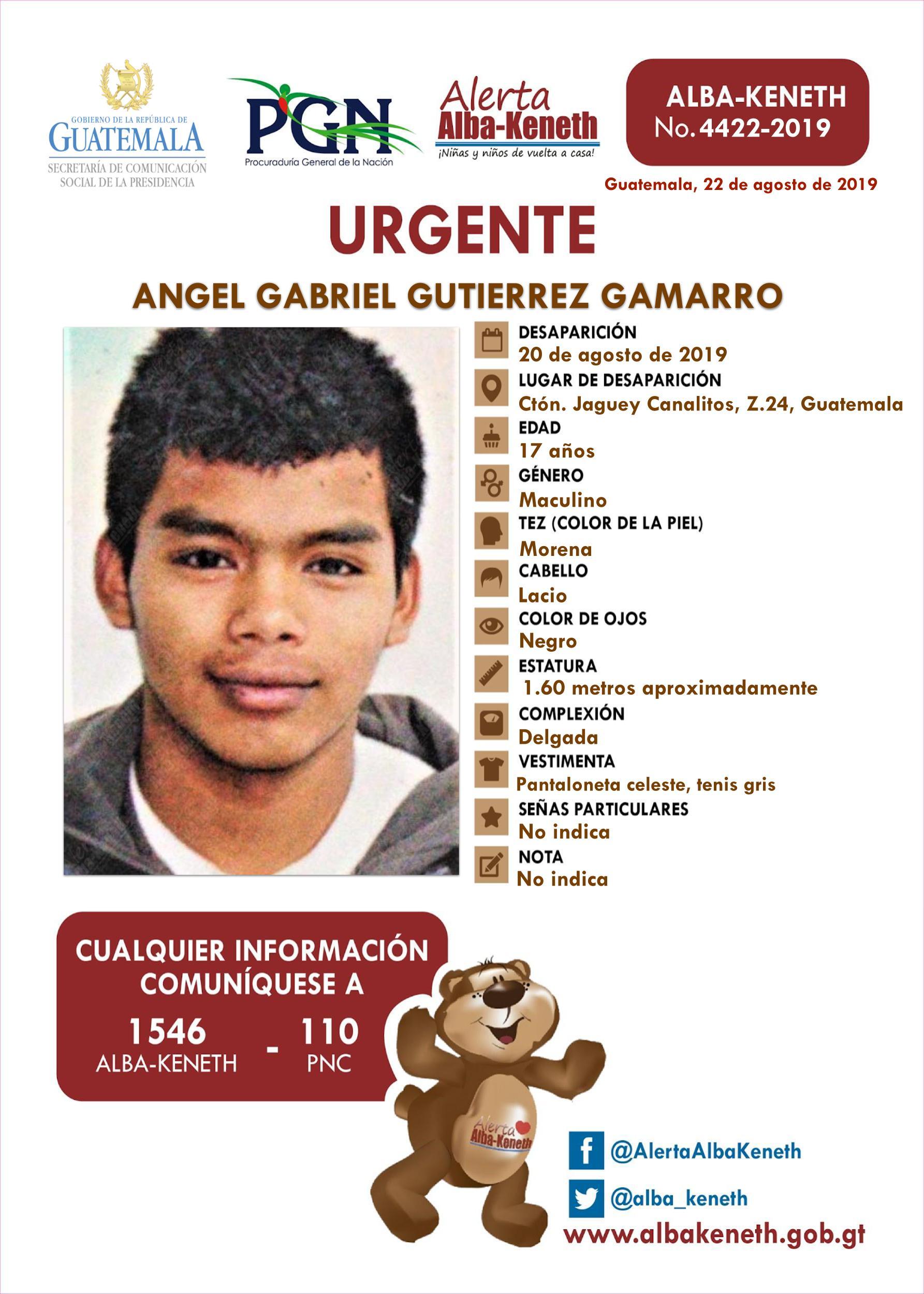 Angel Gabriel Gutierrez Gamarro