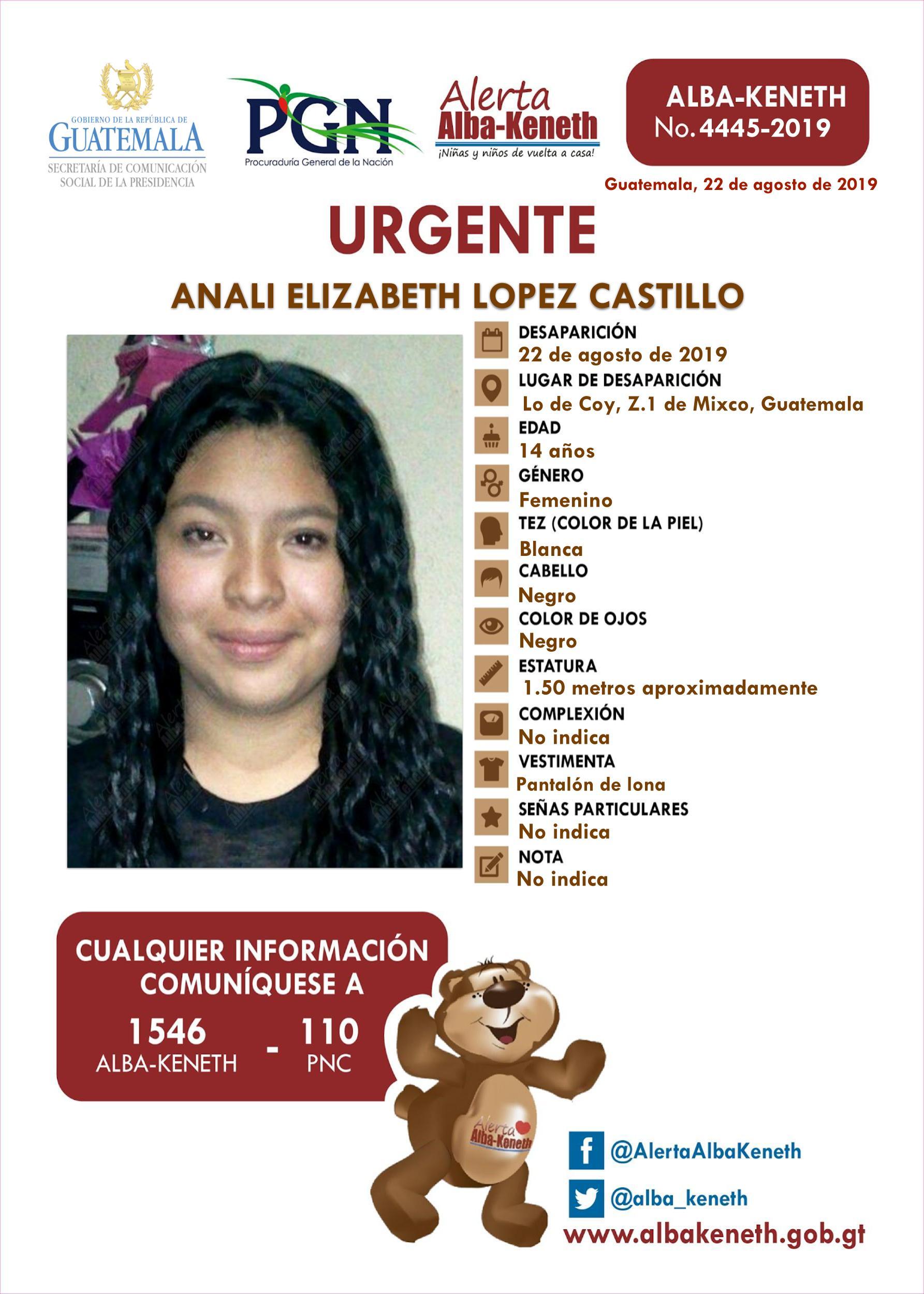 Anali Elizabeth Lopez Castillo