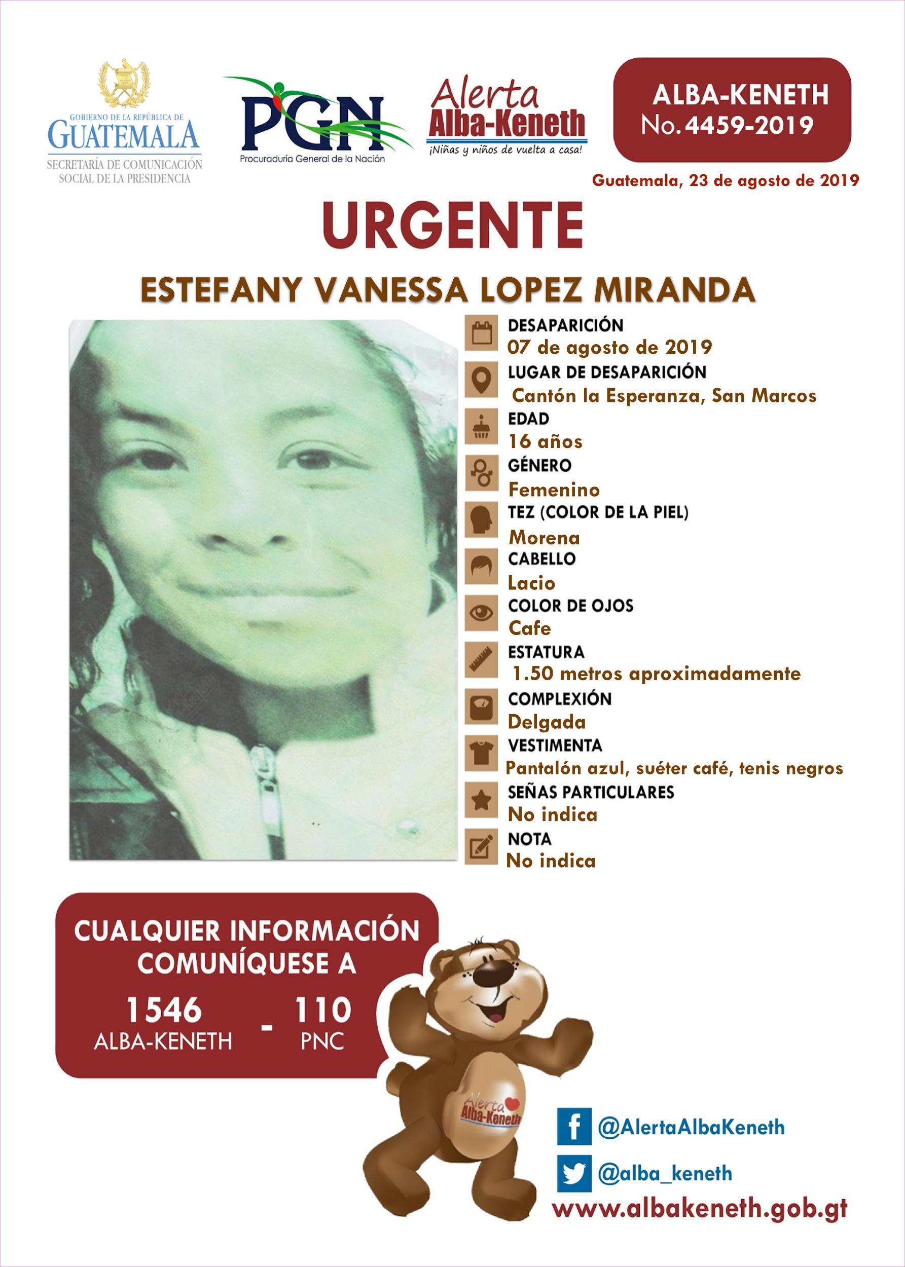 Estefany Vanessa Lopez Miranda